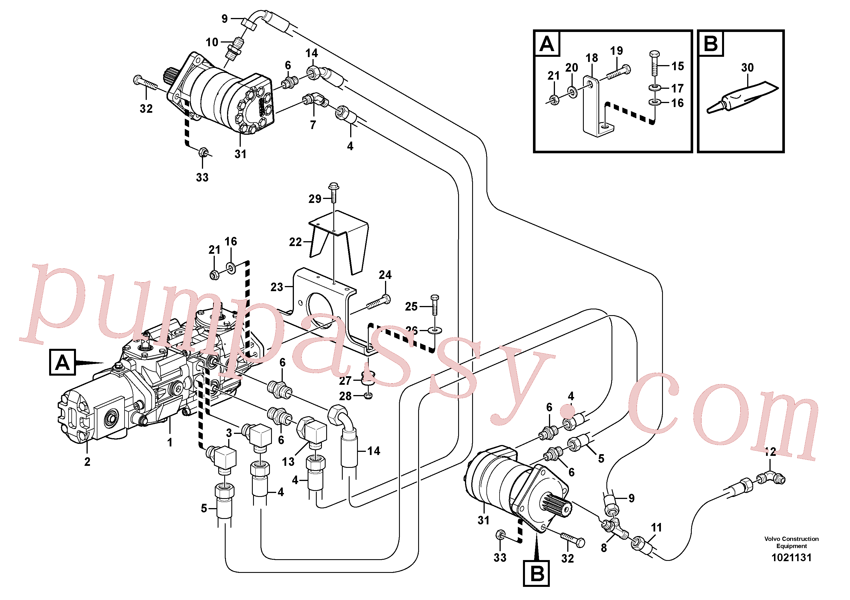 VOE11841125 for Volvo Hydraulic system Transport(1021131 assembly)