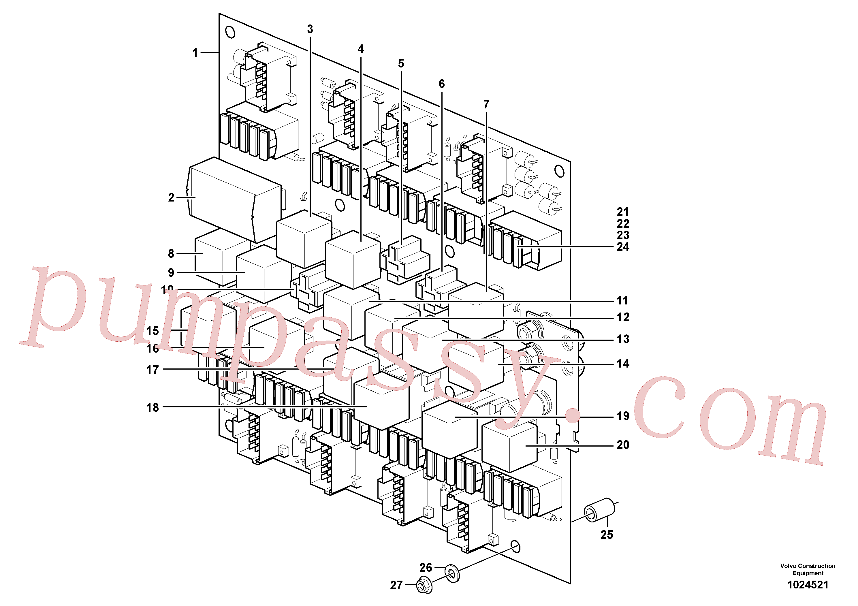 VOE14212890 for Volvo Circuit board(1024521 assembly)