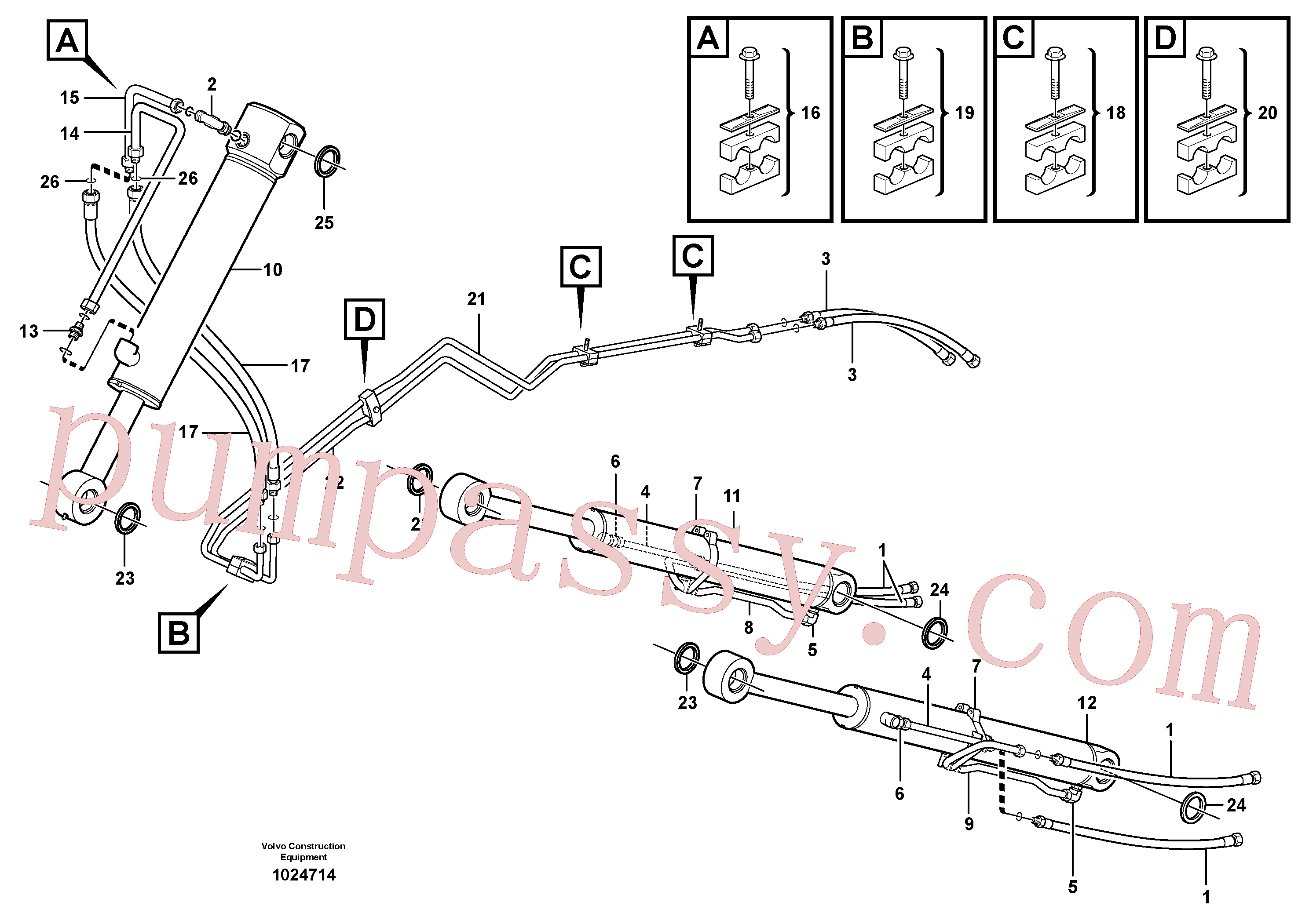 CH127A-1012 for Volvo Hydraulic system, loader(1024714 assembly)