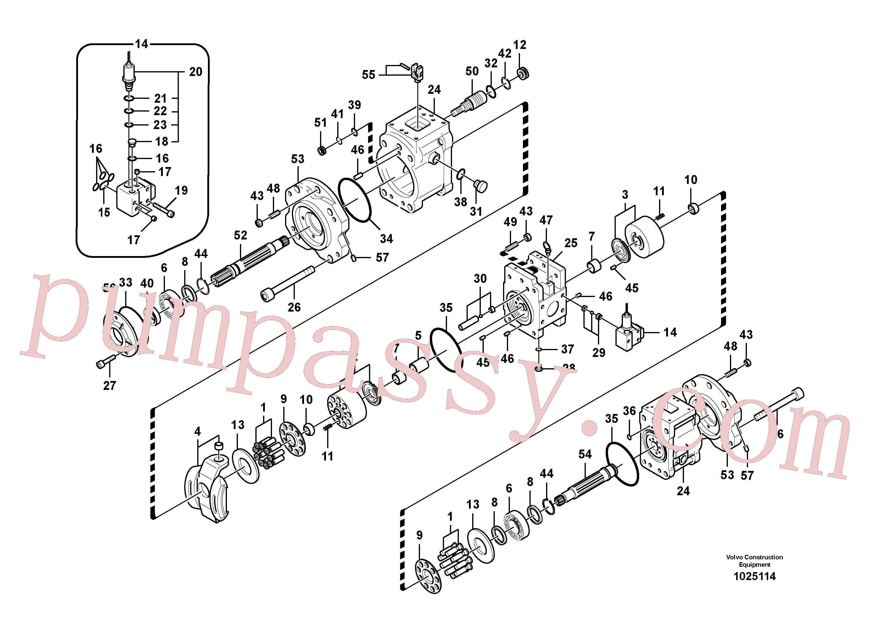 SA8230-25880 for Volvo Hydraulic pump(1025114 assembly)
