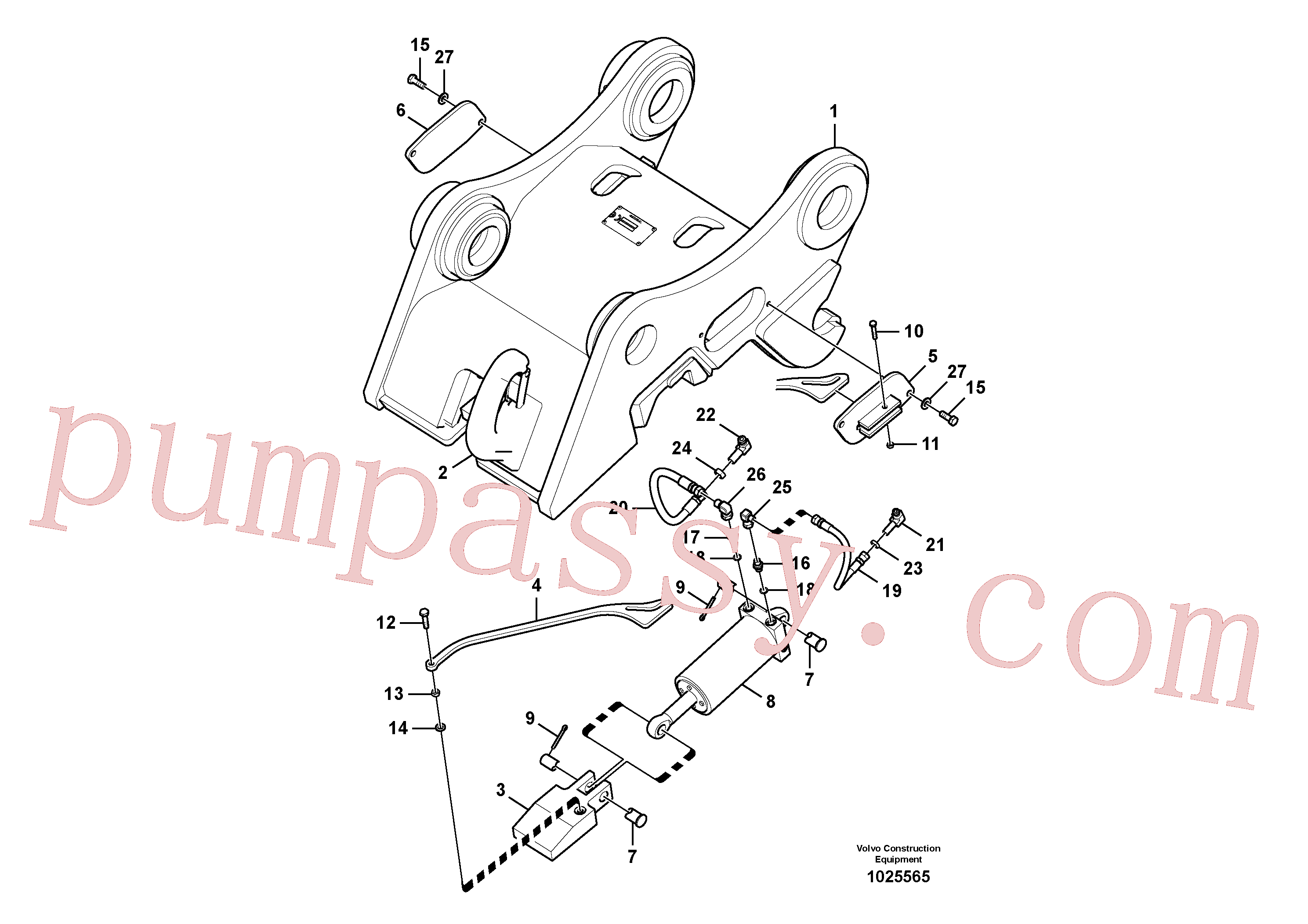 VOE14522371 for Volvo Attachment bracket, quickfit(1025565 assembly)