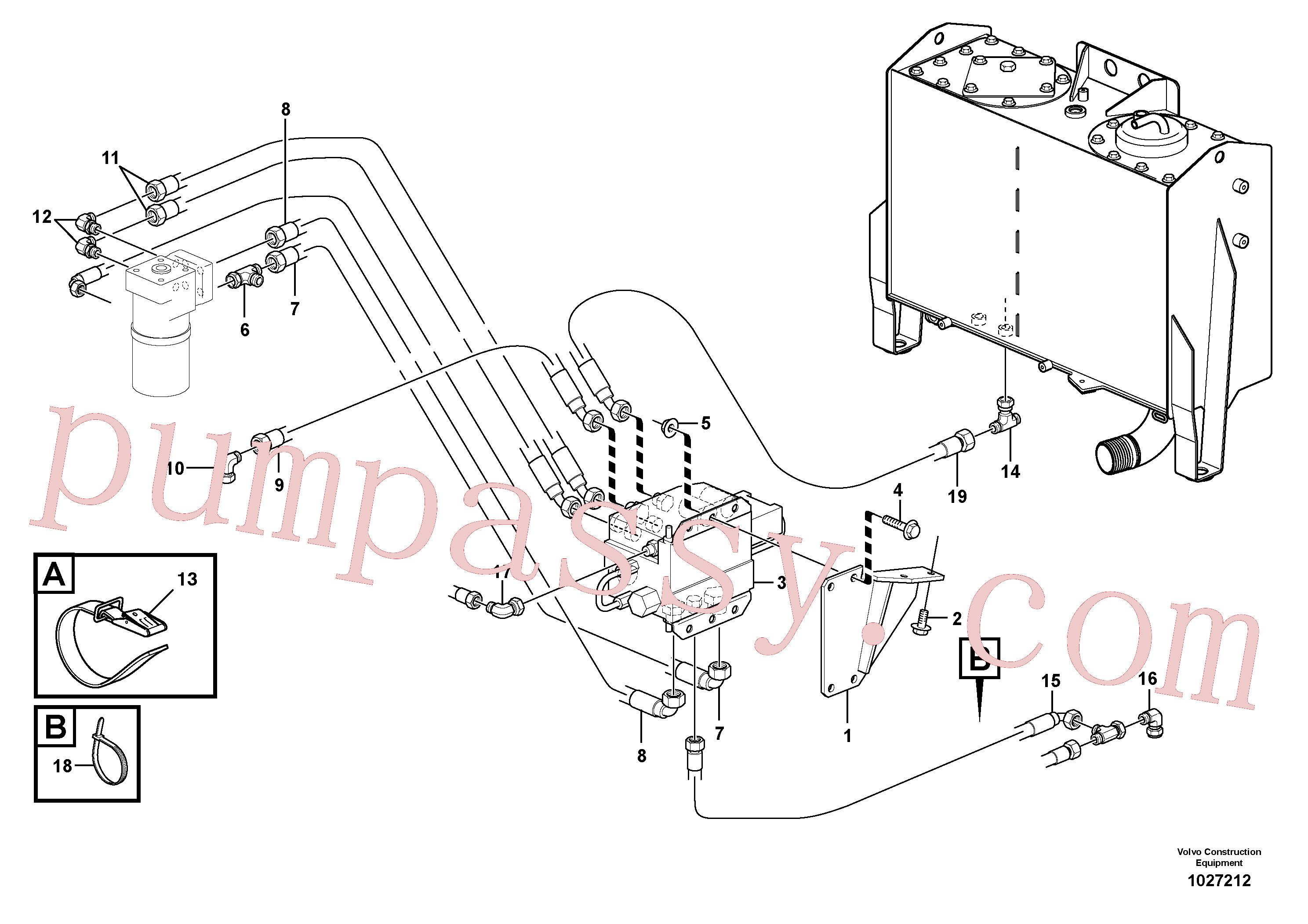 VOE11701420 for Volvo CDC - steering(1027212 assembly)