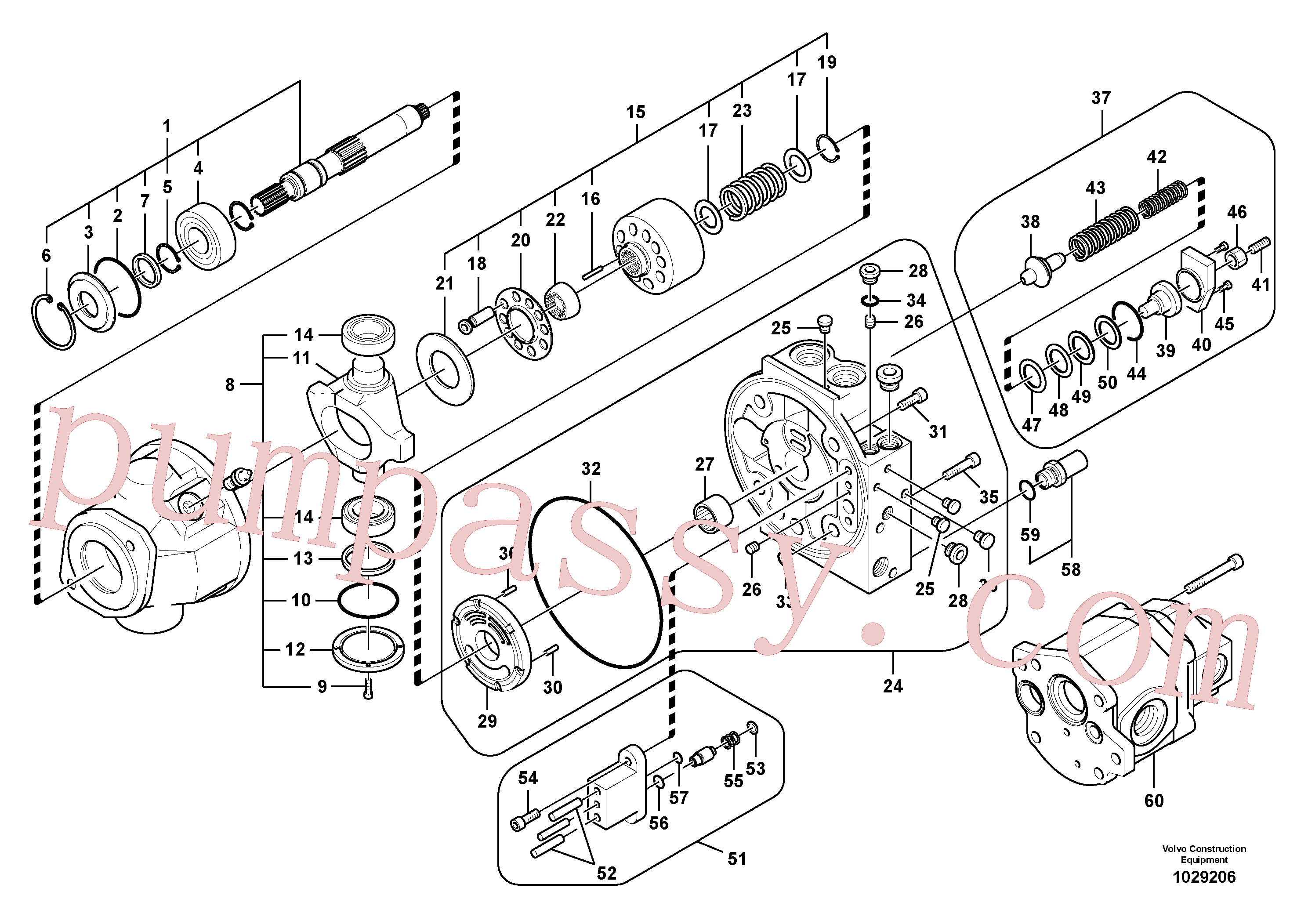 SA8230-02950 for Volvo Hydraulic pump(1029206 assembly)