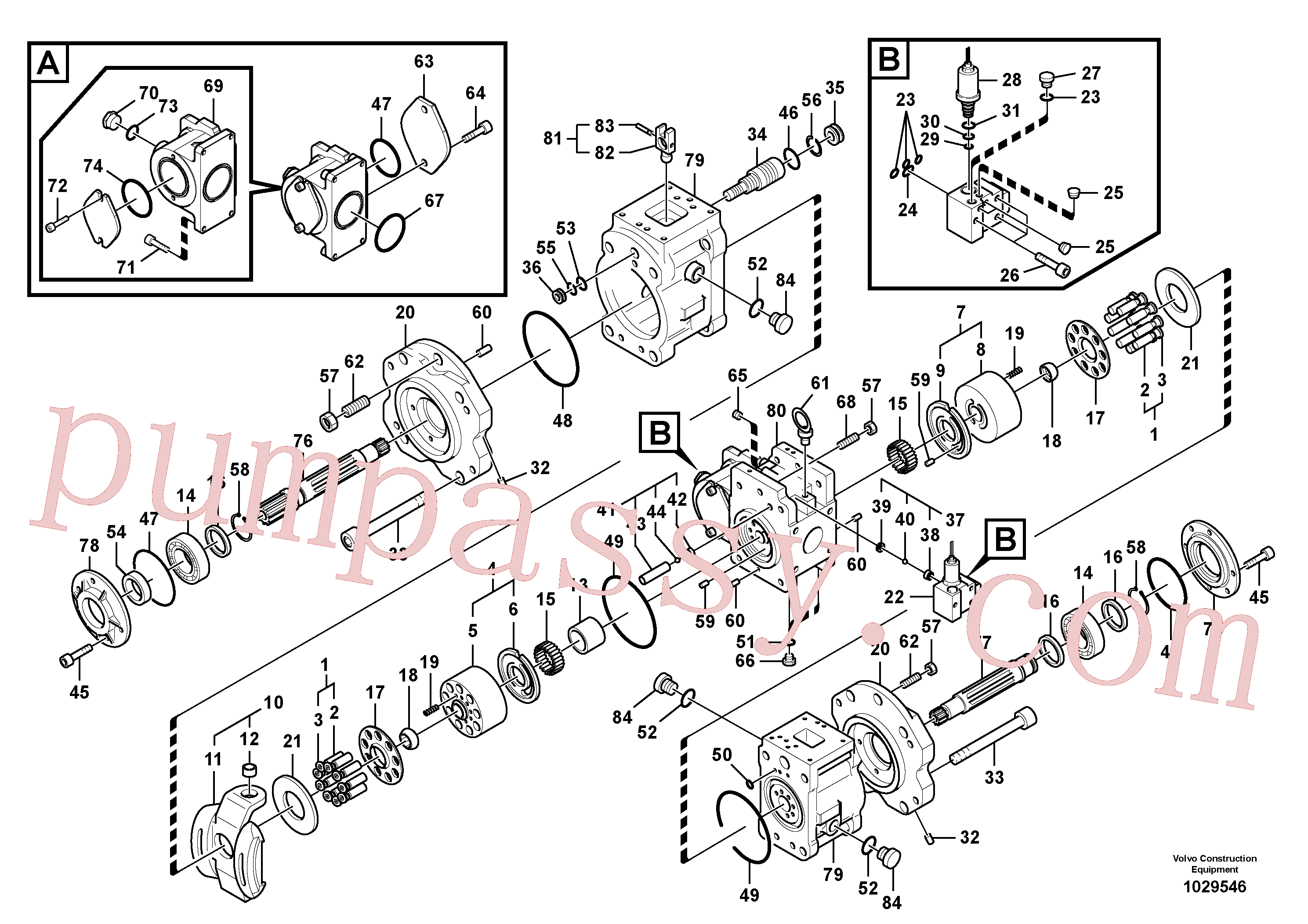 SA8230-25880 for Volvo Hydraulic pump(1029546 assembly)