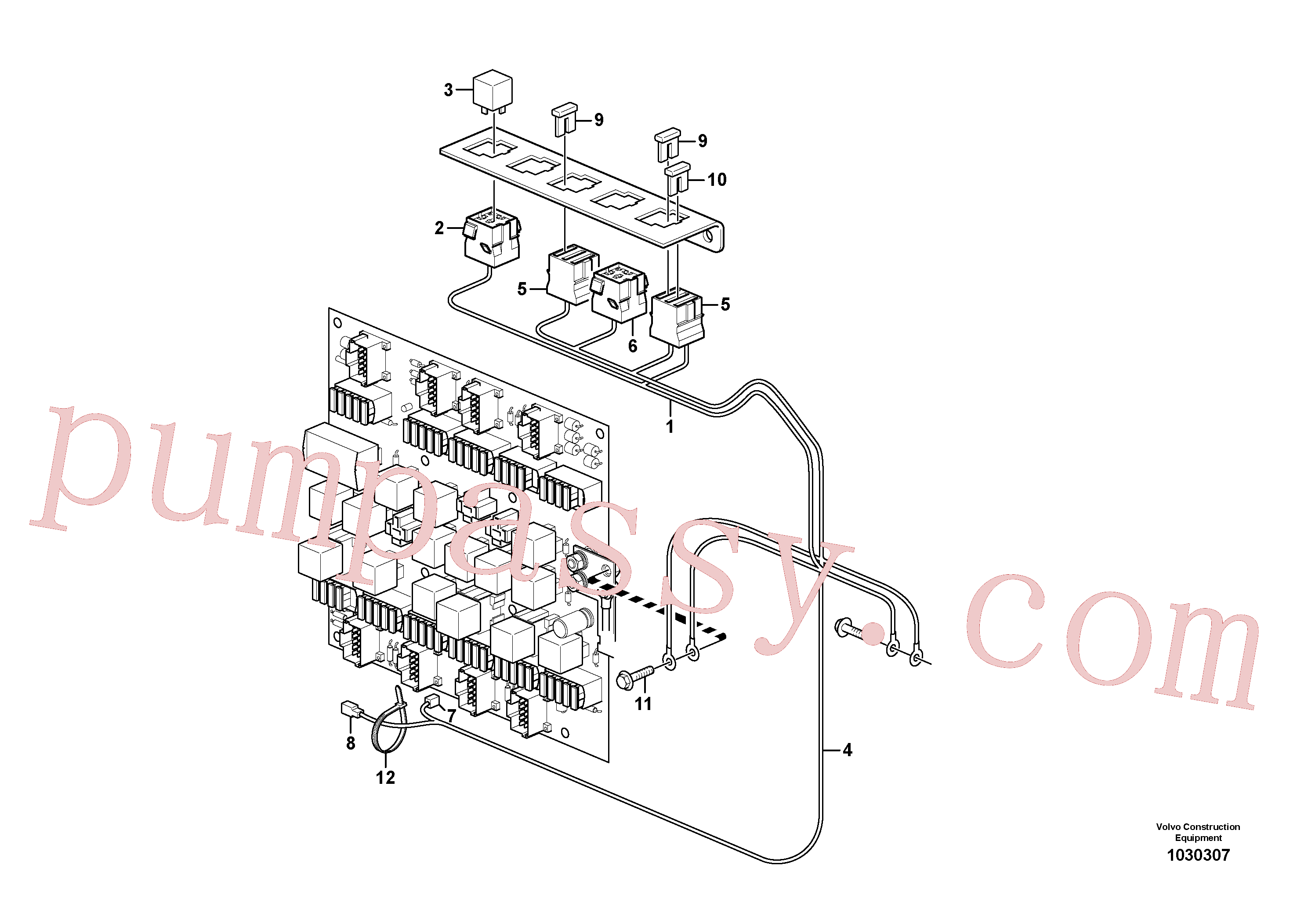 VOE14212890 for Volvo Cable harness, heating fuel filter(1030307 assembly)