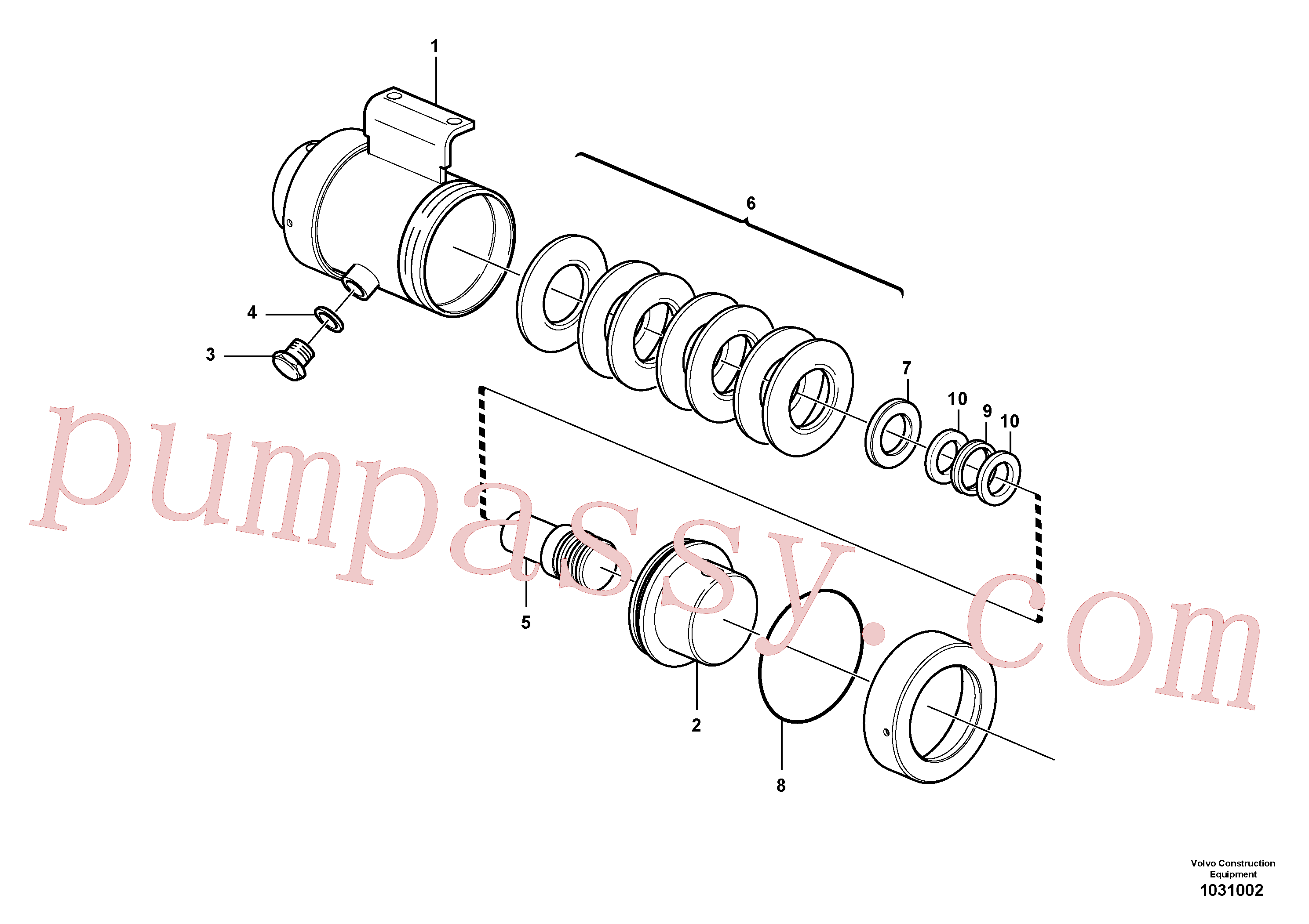 VOE4737485 for Volvo Damping cylinder(1031002 assembly)