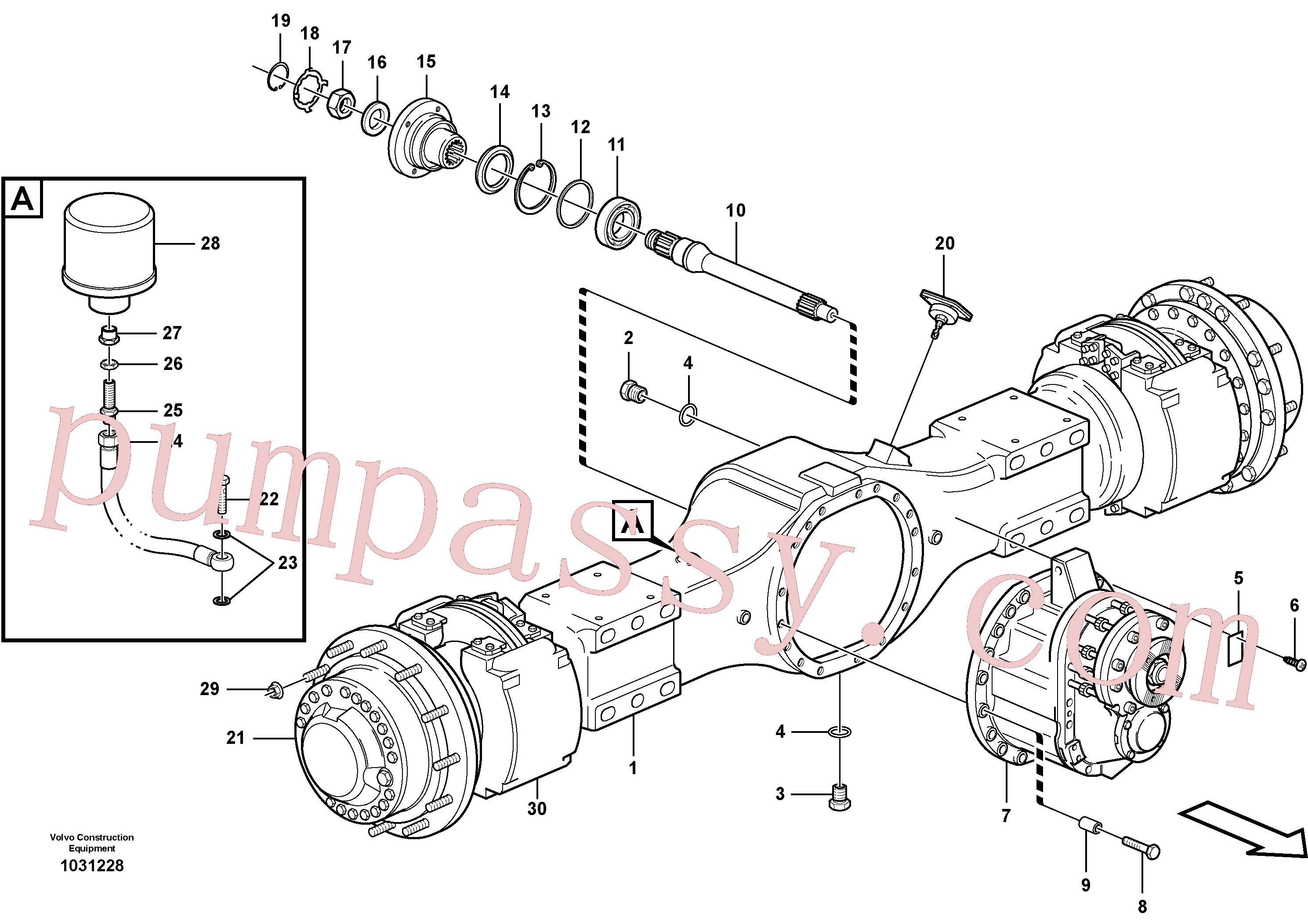VOE11102959 for Volvo Planetary axle 1, load unit(1031228 assembly)