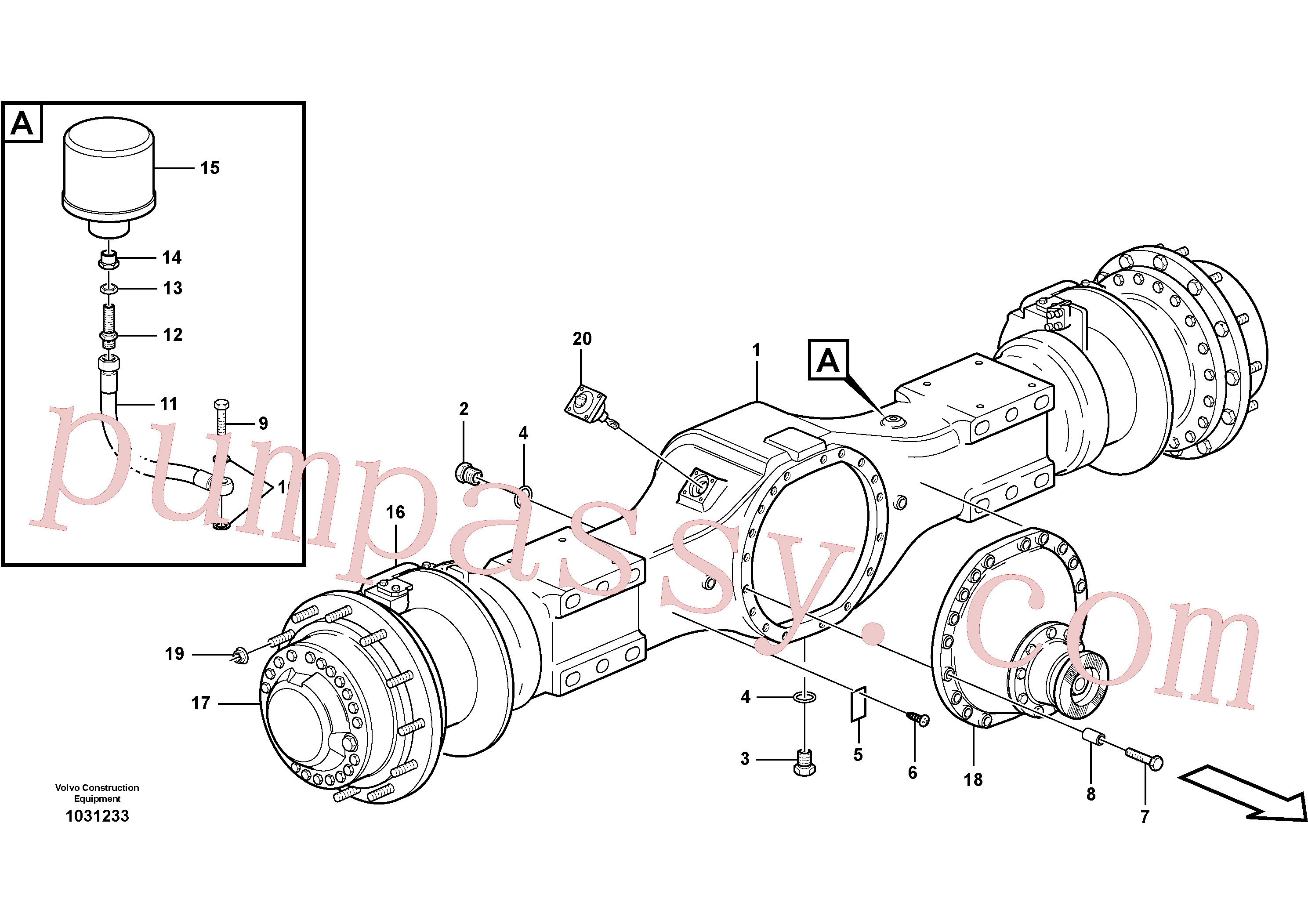 VOE11100354 for Volvo Planetary axle 2, load unit(1031233 assembly)