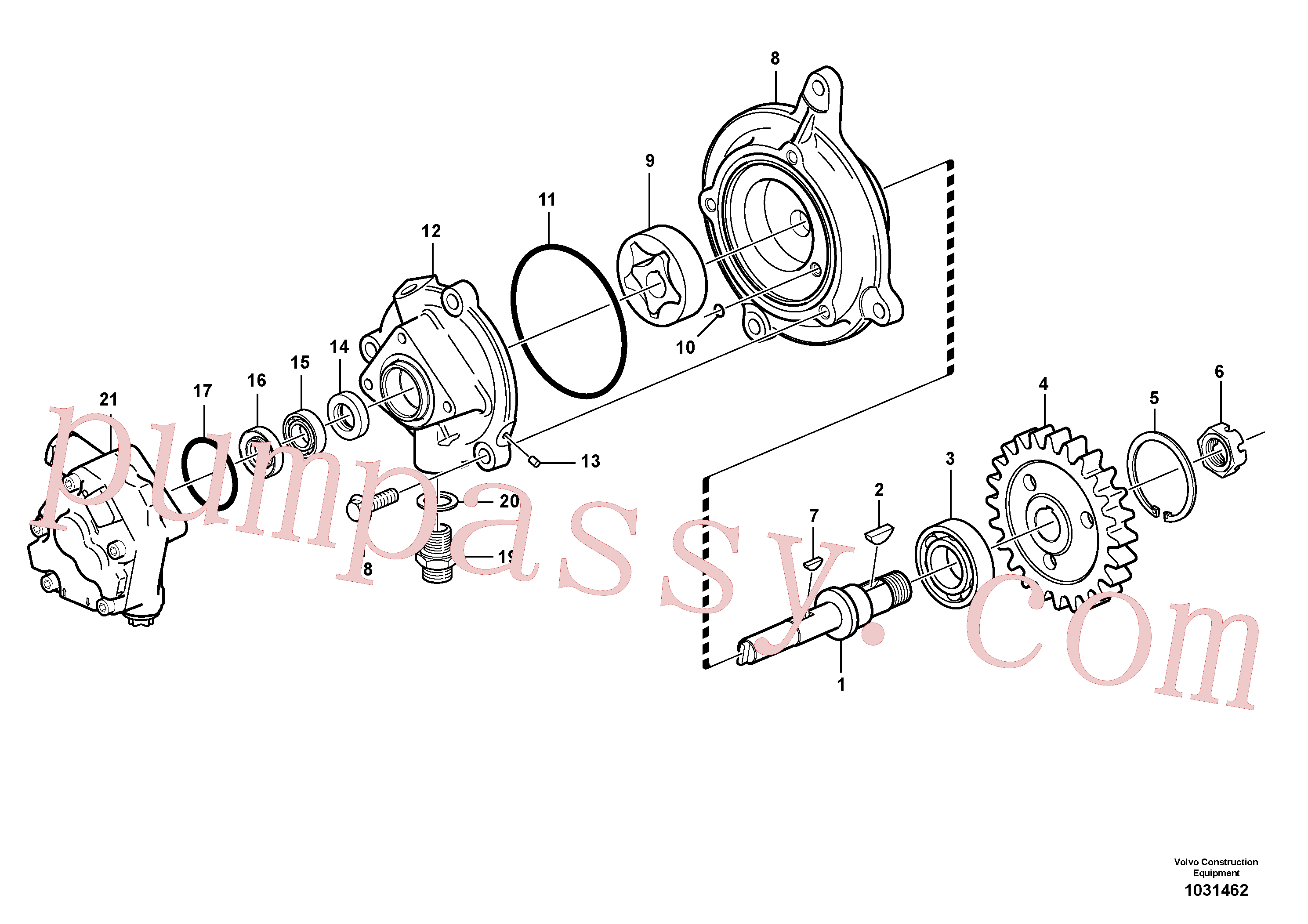 VOE976930 for Volvo Oil pump(1031462 assembly)
