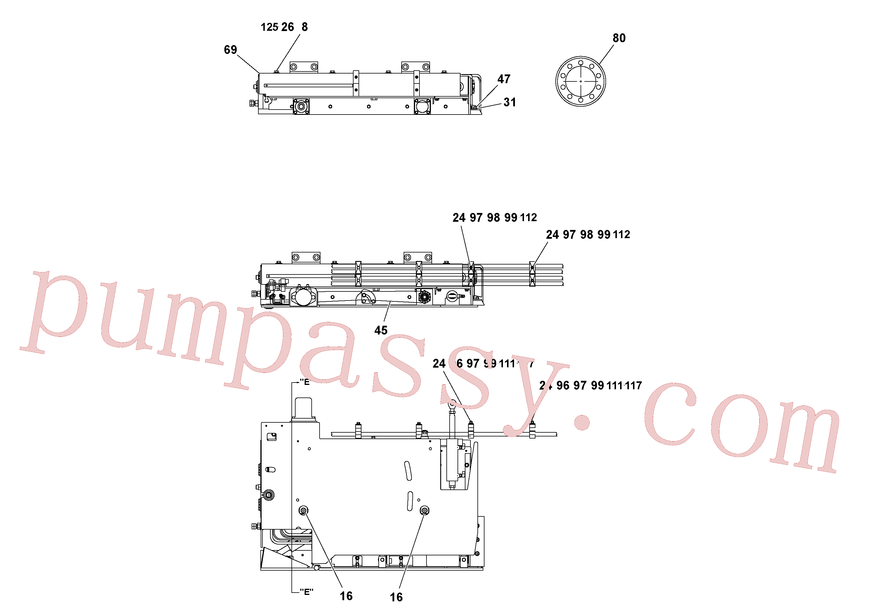 RM15558570 for Volvo 4' Extension Assembly(1036852 assembly)