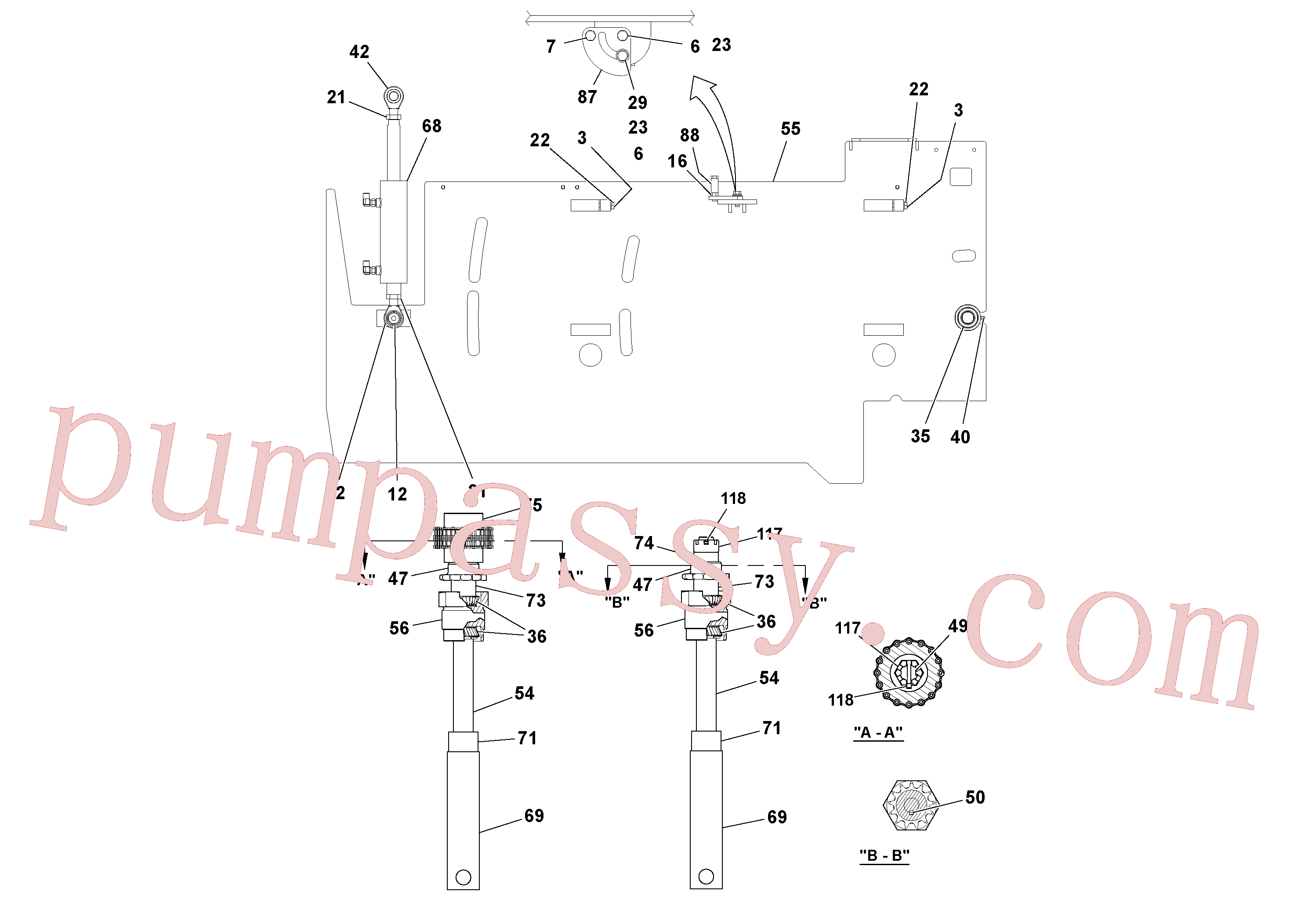 RM20313227 for Volvo 5' Extension Assembly(1036884 assembly)