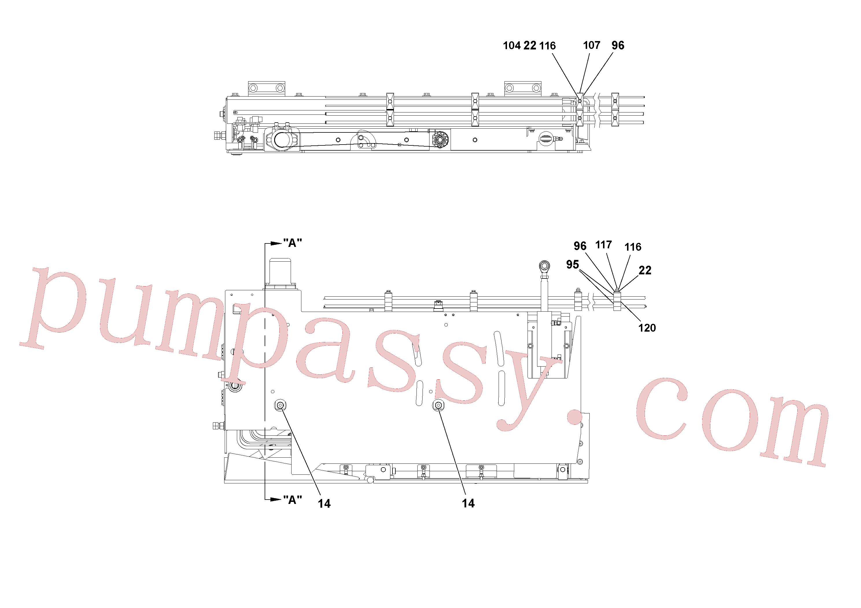 RM15558570 for Volvo 5' Extension Assembly(1036962 assembly)