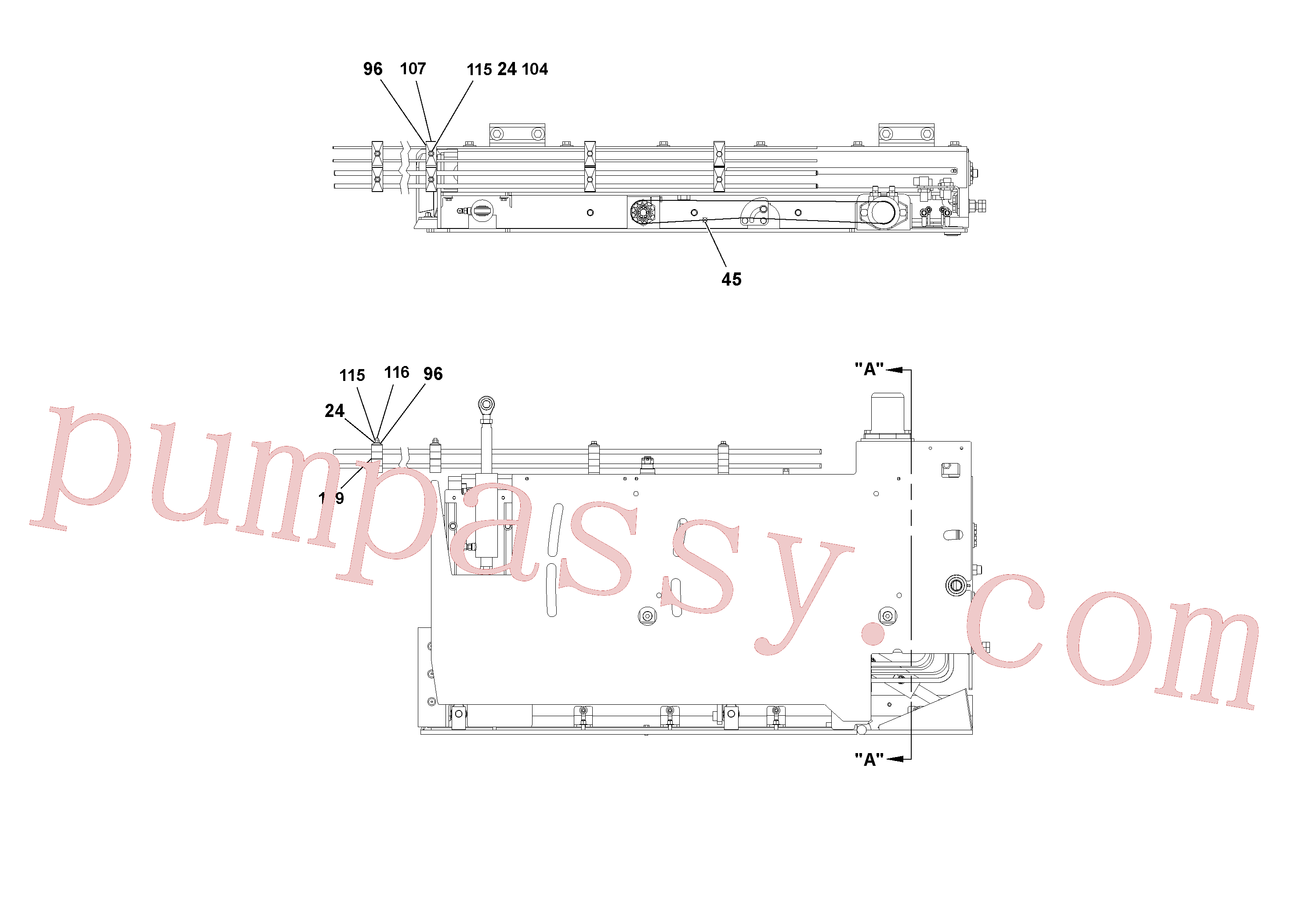 RM15558570 for Volvo 5' Extension Assembly(1036976 assembly)