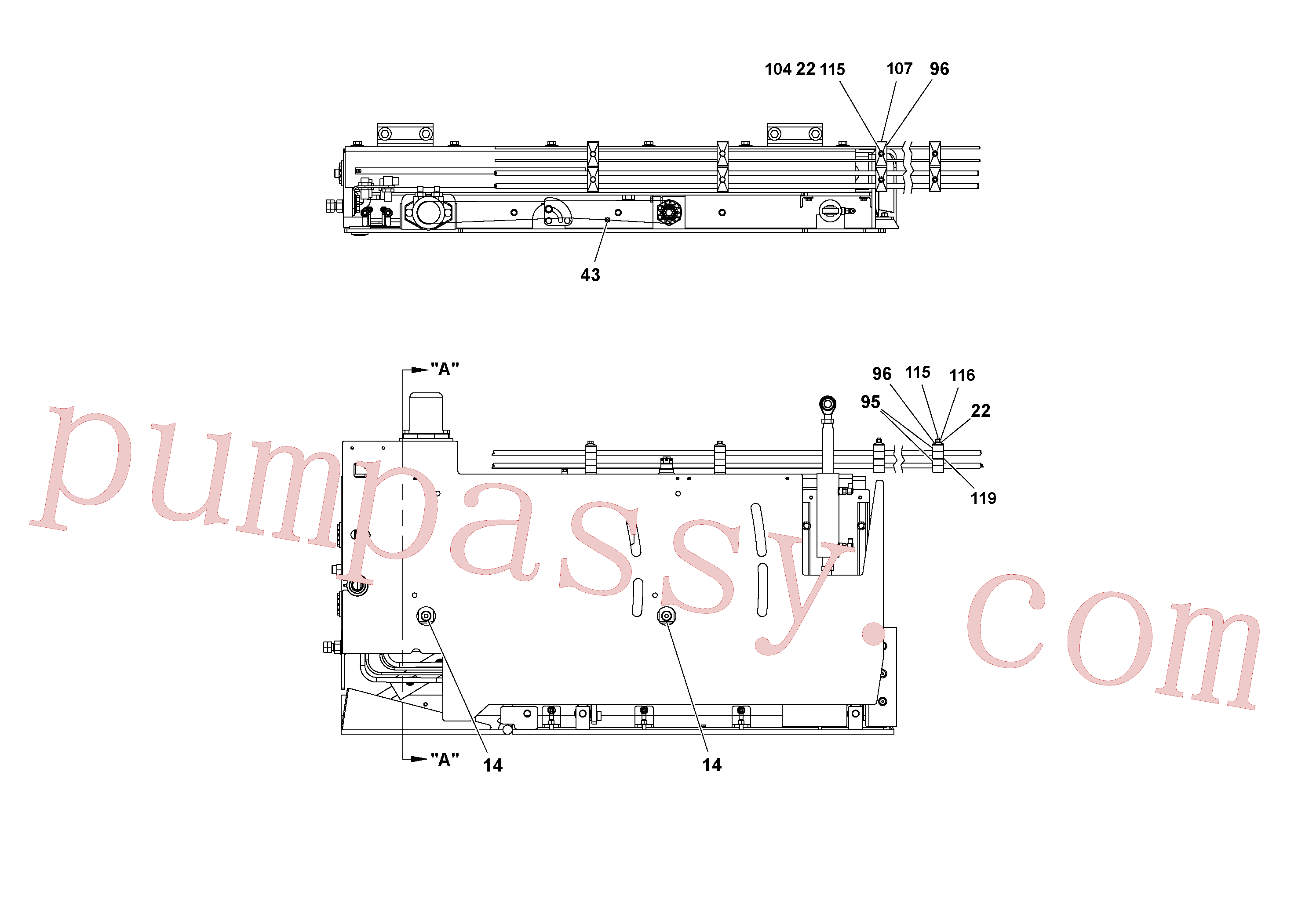 RM15558570 for Volvo 5' Extension Assembly(1036983 assembly)