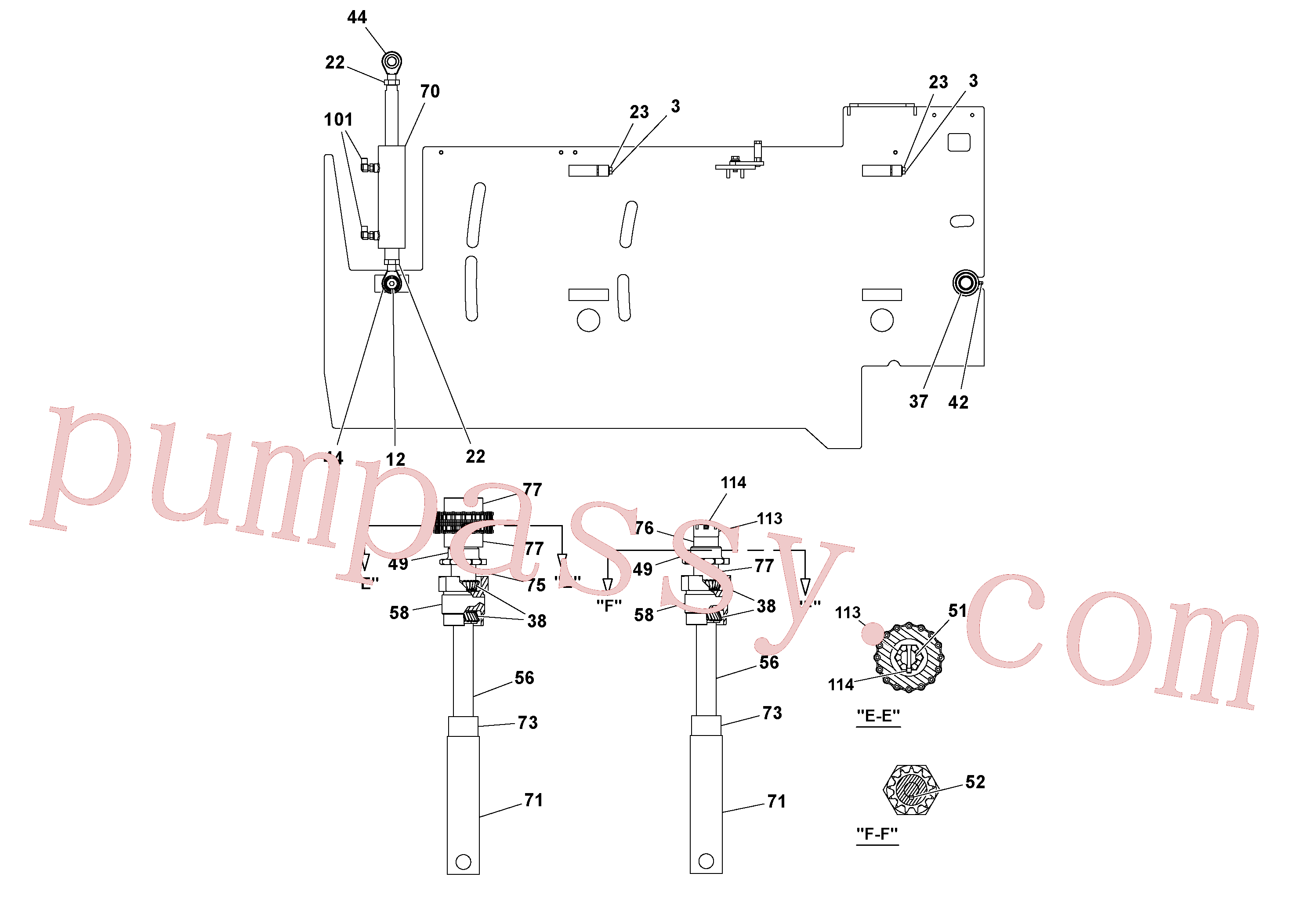 RM20313227 for Volvo 5' Extension Assembly(1037014 assembly)