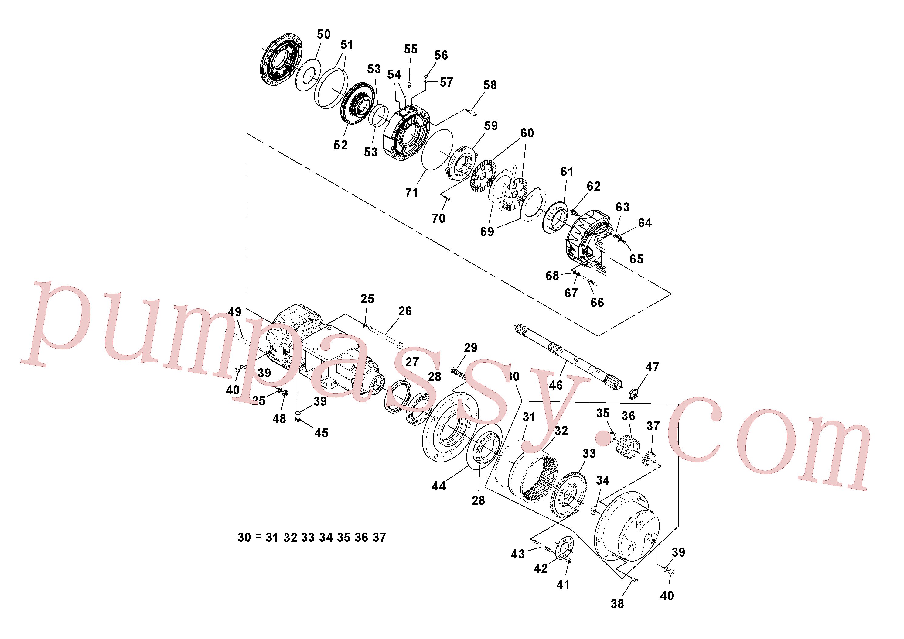 RM59153601 for Volvo Axle(1037589 assembly)