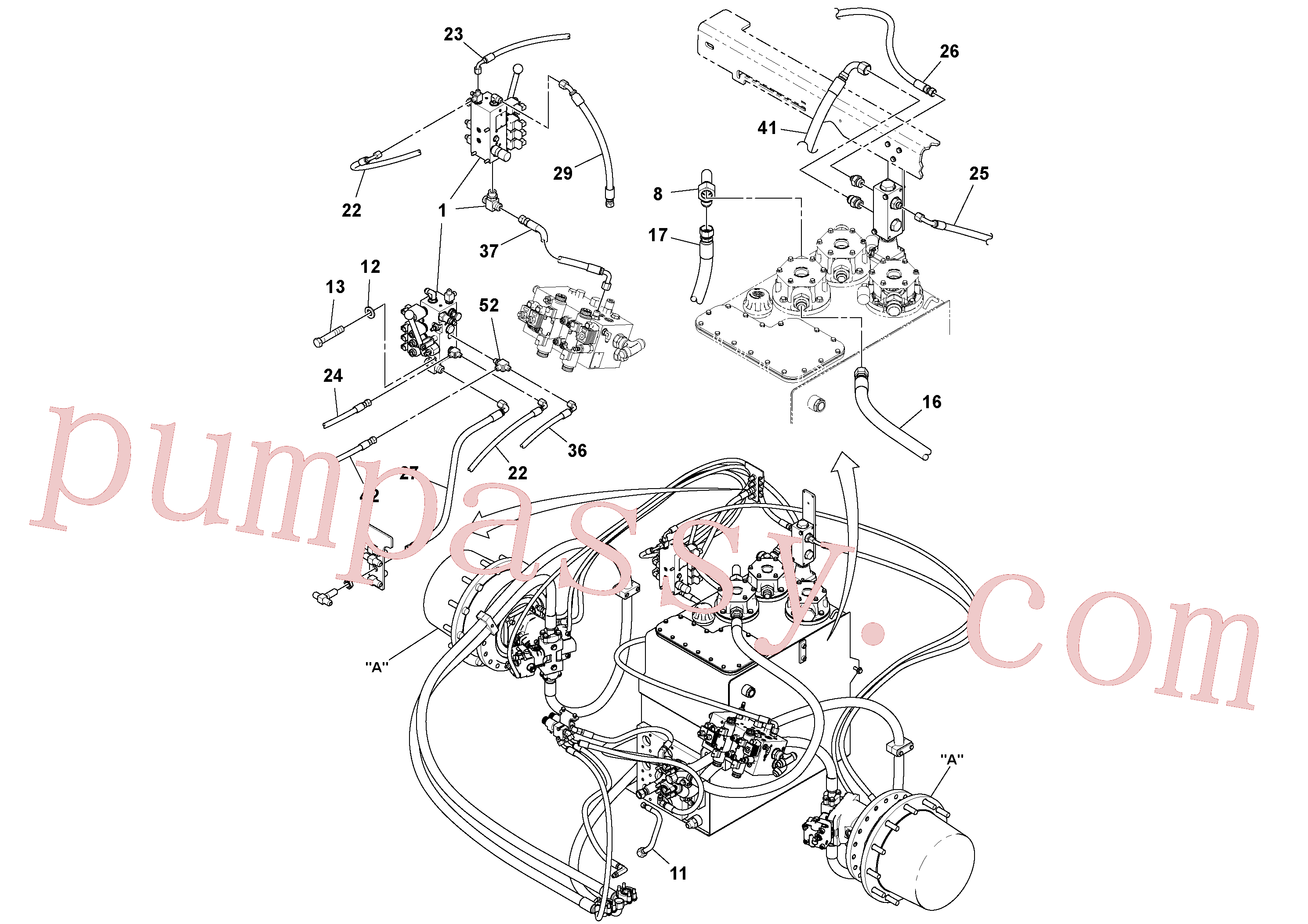 RM13846621 for Volvo Propulsion Installation(1038652 assembly)