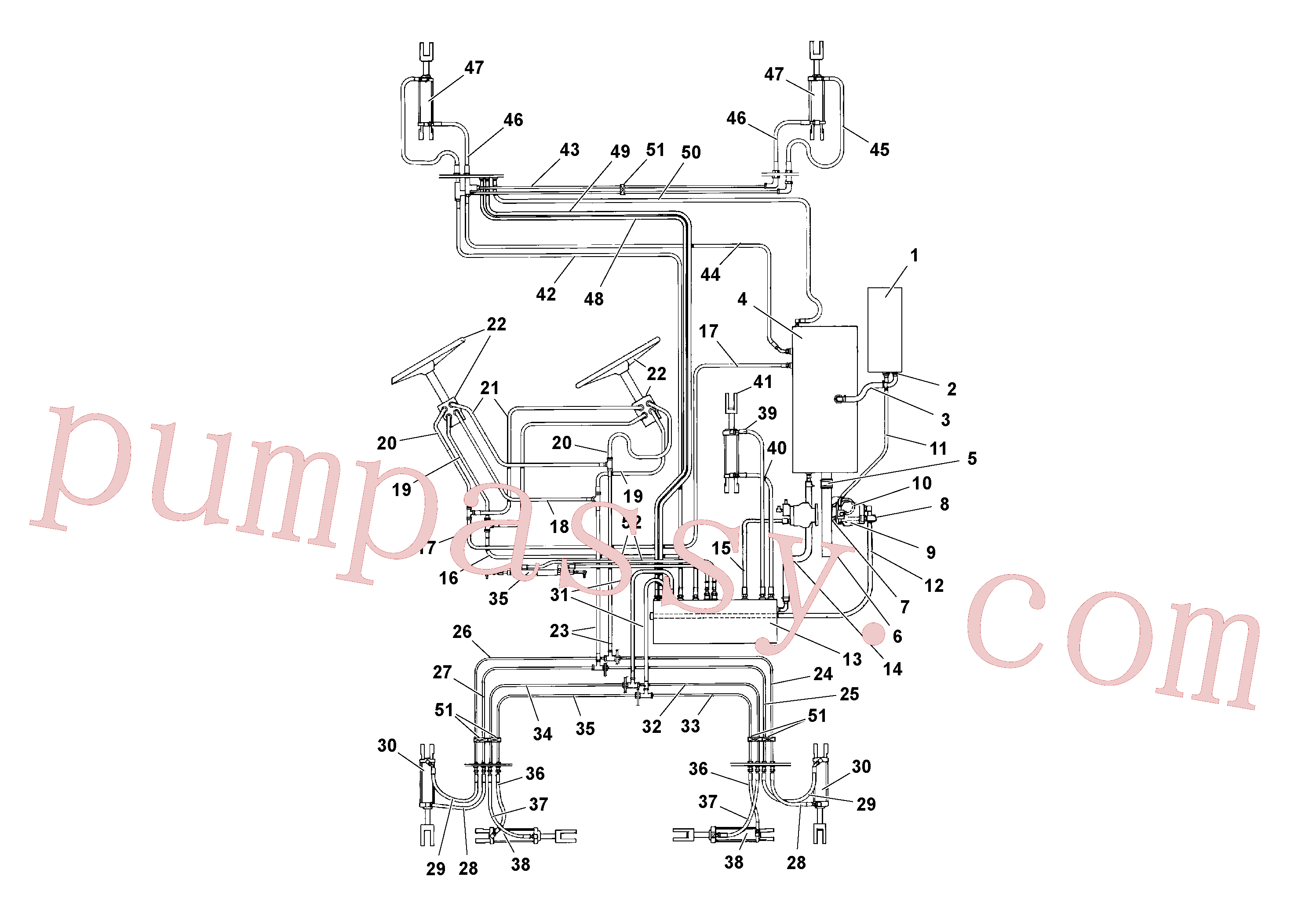 RM59923060 for Volvo General Purpose Hydraulic System(1039226 assembly)