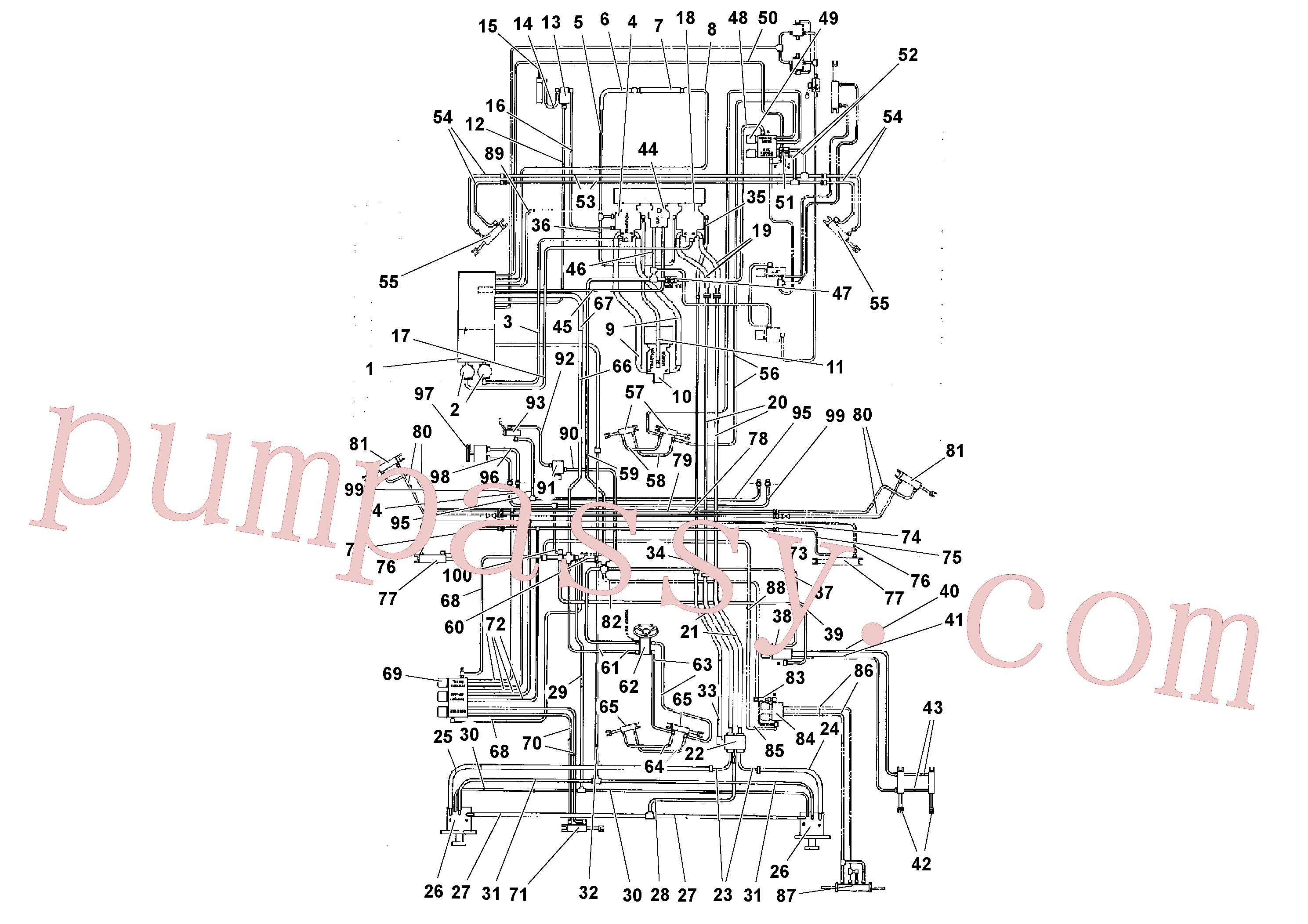 RM95387890 for Volvo Hydraulic diagram(1039323 assembly)