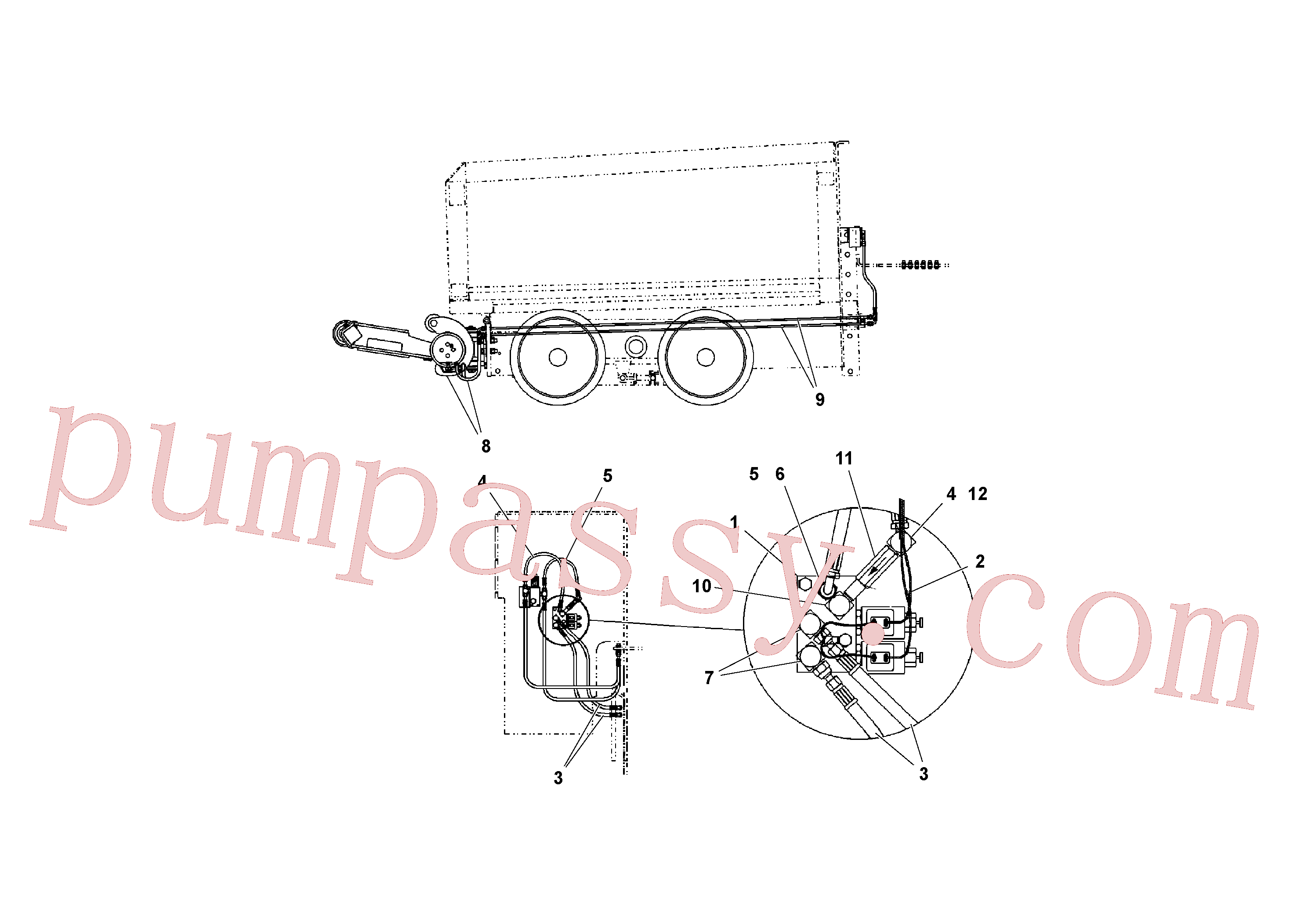 RM95934600 for Volvo Hydraulic system(1040677 assembly)