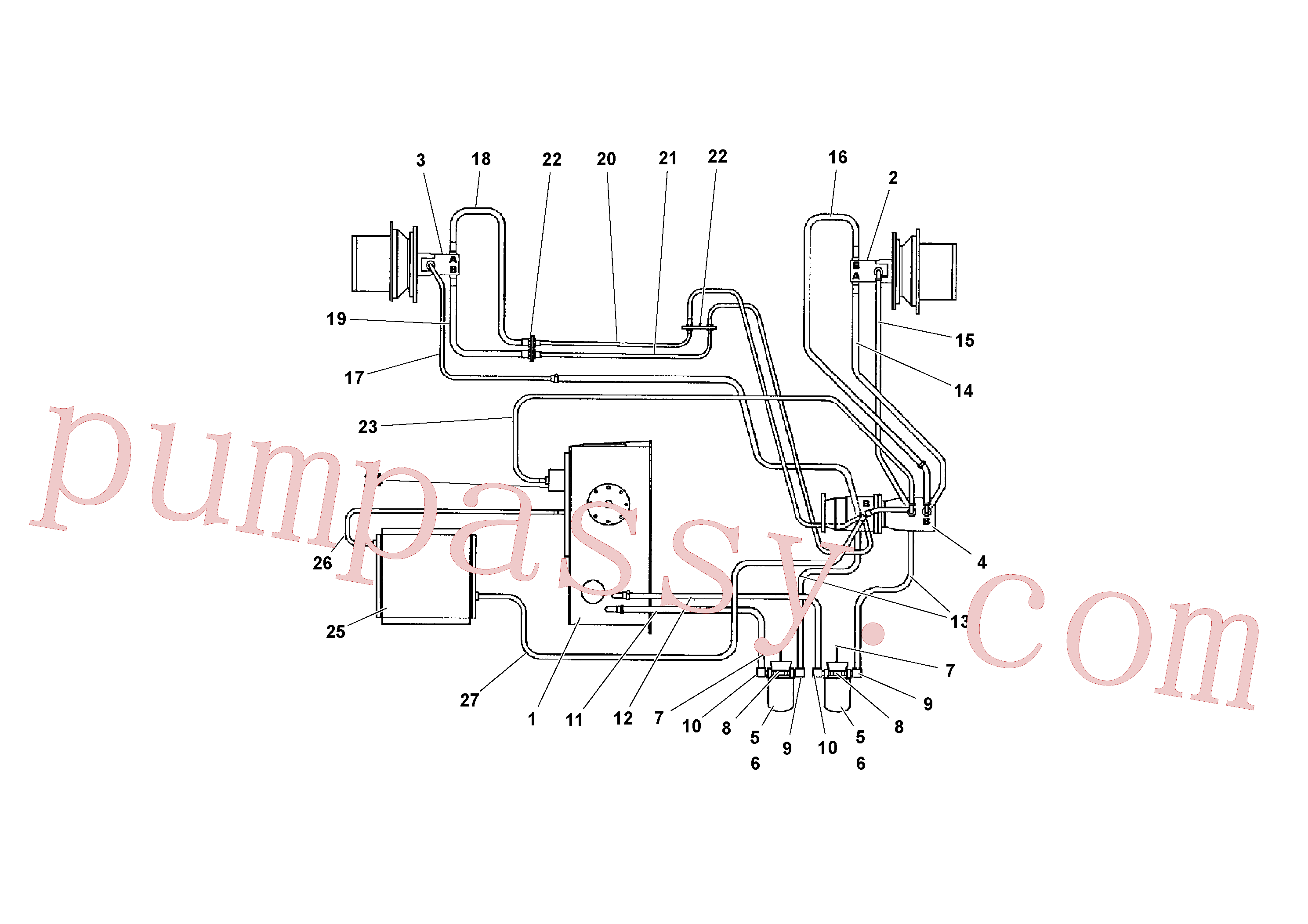 RM20919312 for Volvo Traction Drive Hydraulic System(1041156 assembly)