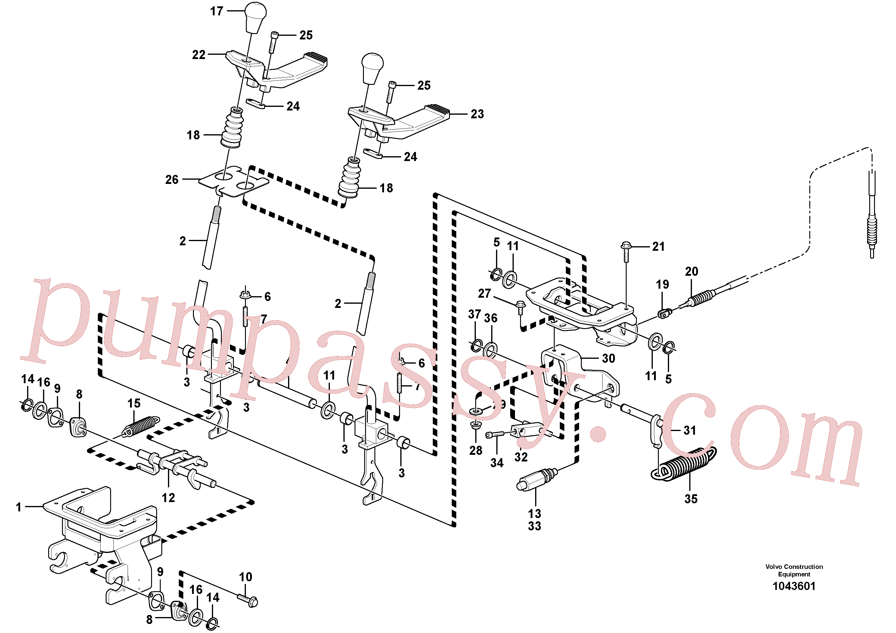 PJ3310403 for Volvo Control levers : travelling(1043601 assembly)