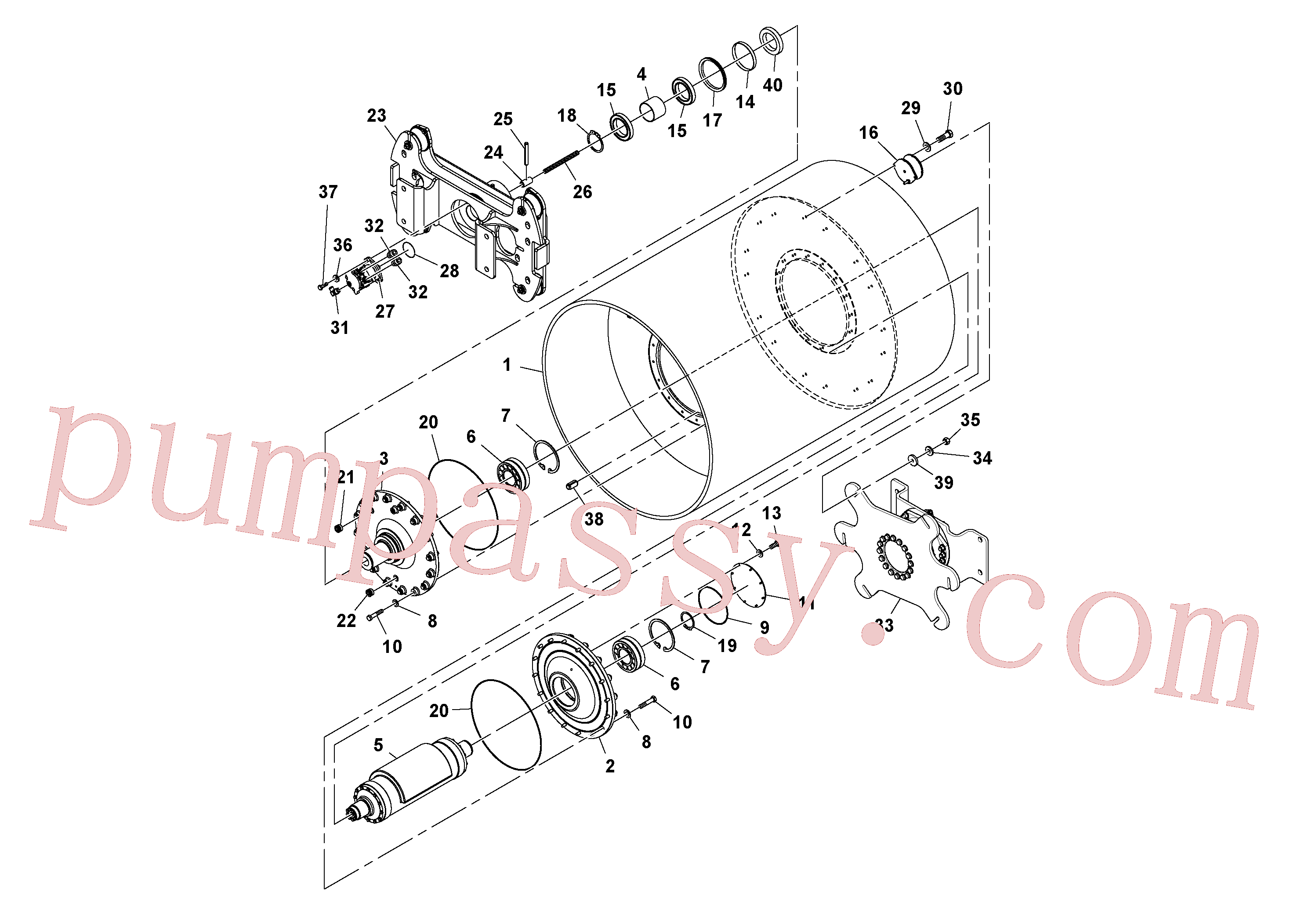RM13351408 for Volvo Drum Assembly(1045210 assembly)