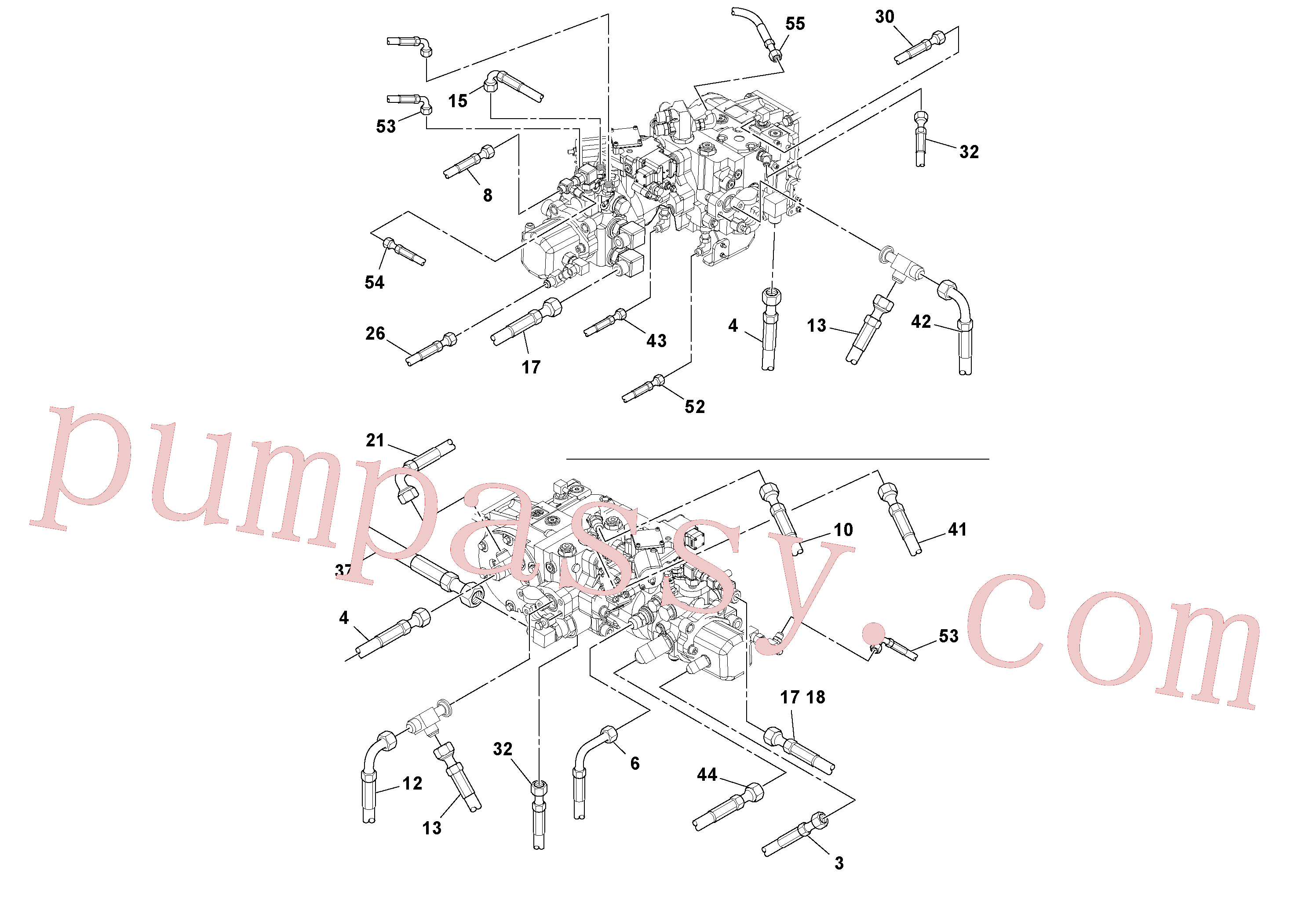 RM13199047 for Volvo Hoses Installation(1045243 assembly)