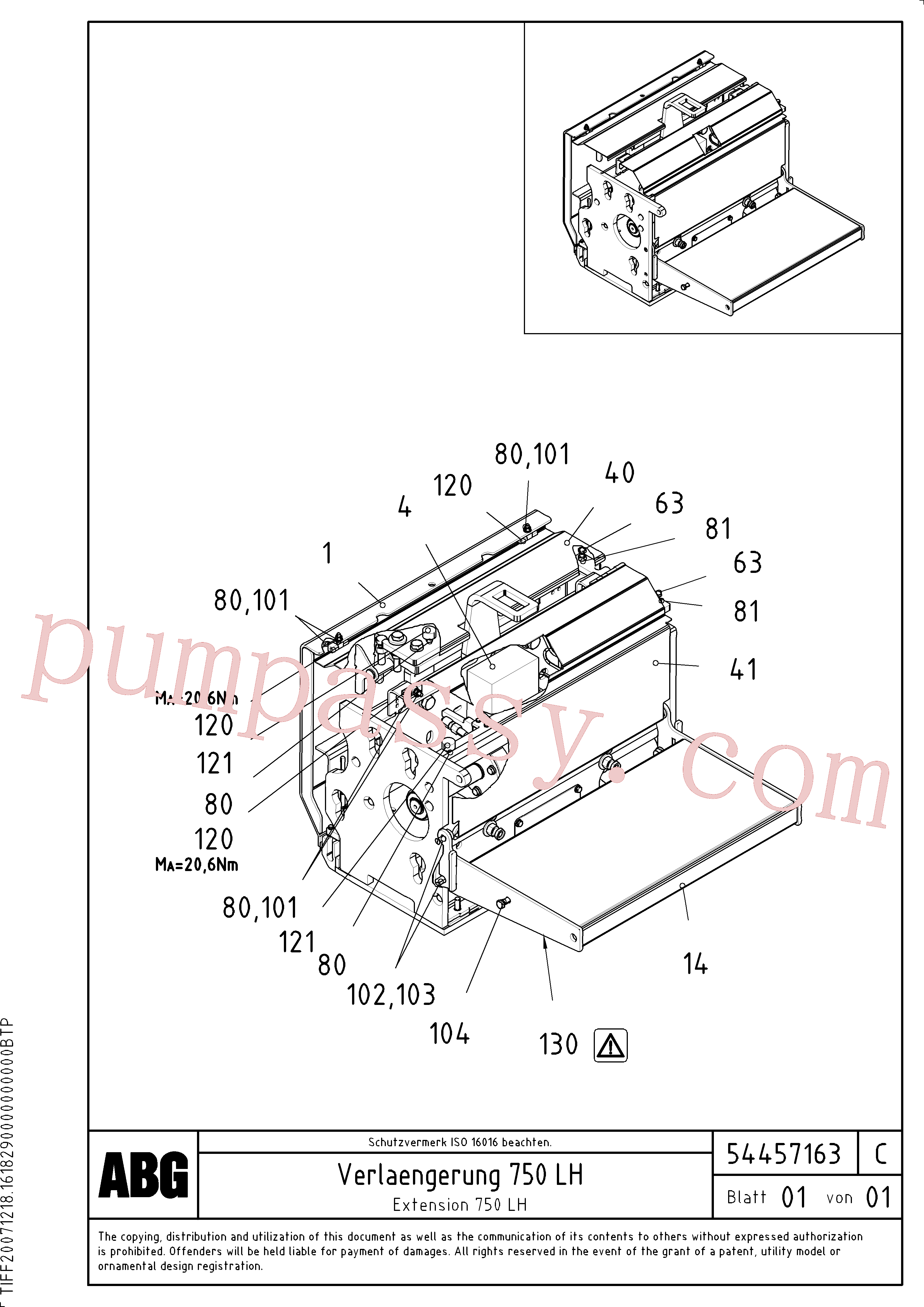 RM87969887 for Volvo Extension set(1046623 assembly)