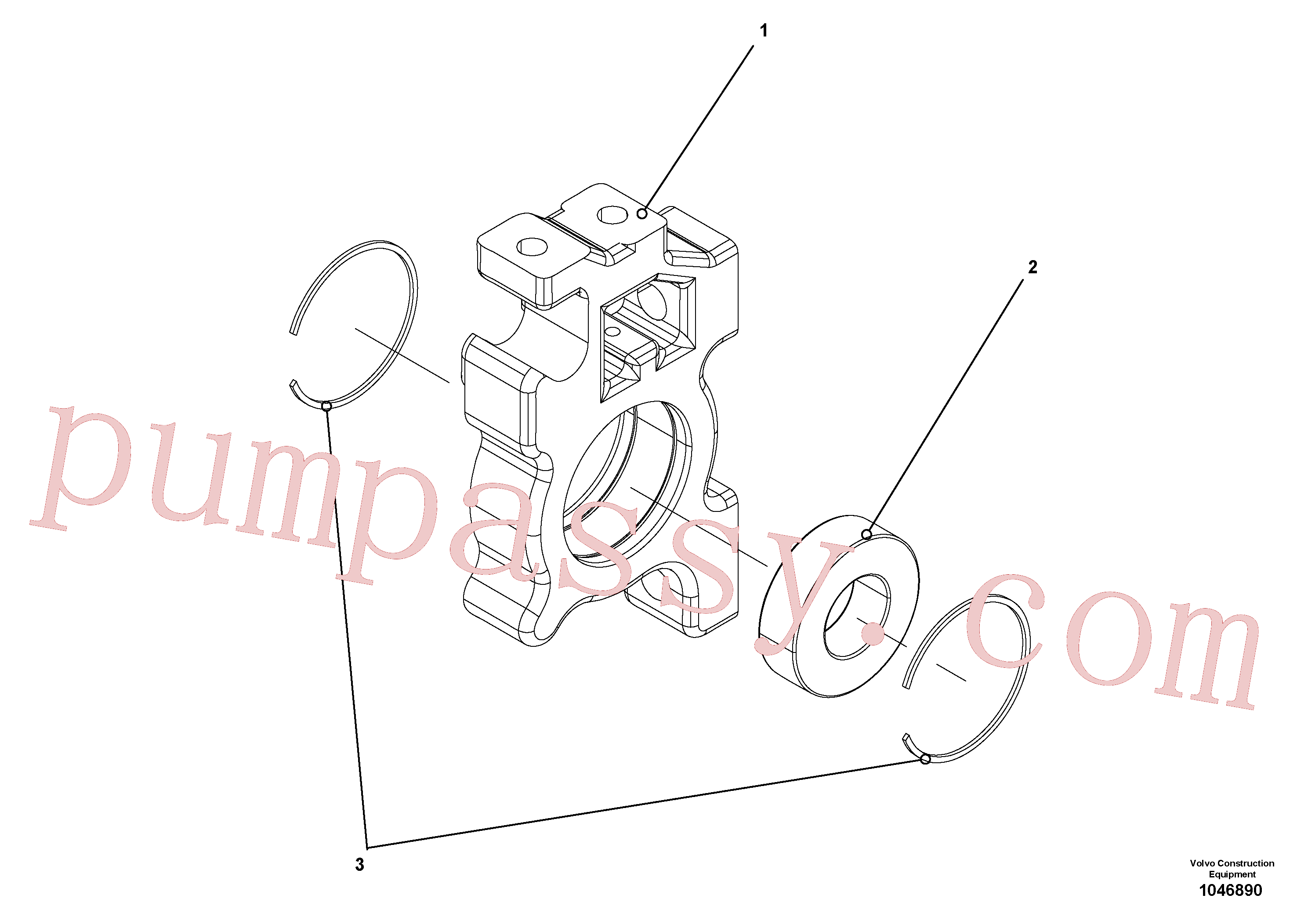 RM56298060 for Volvo Adjustable bearing for tamper/extendable screed(1046890 assembly)