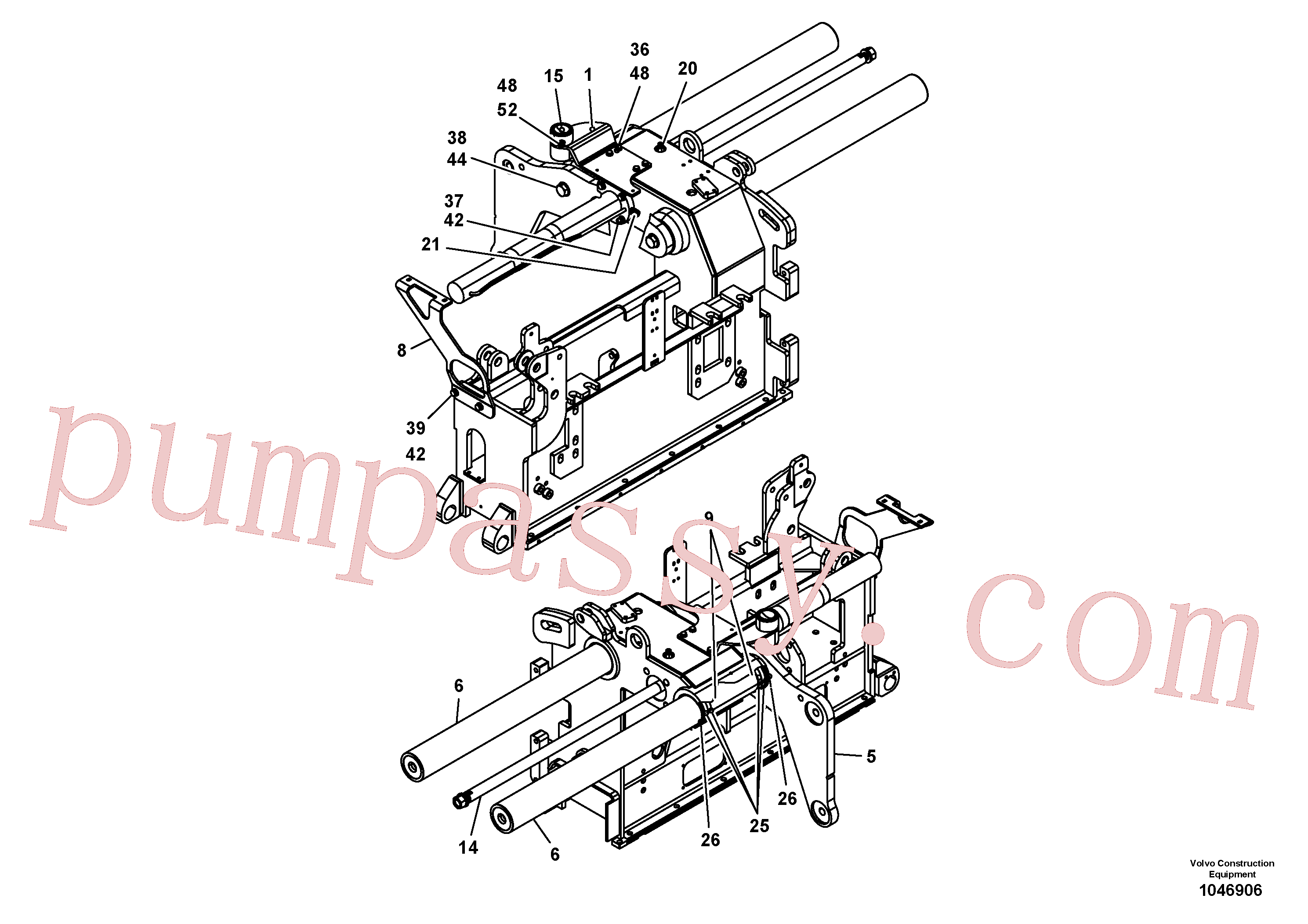 RM14082317 for Volvo Screed guide for basic screed(1046906 assembly)