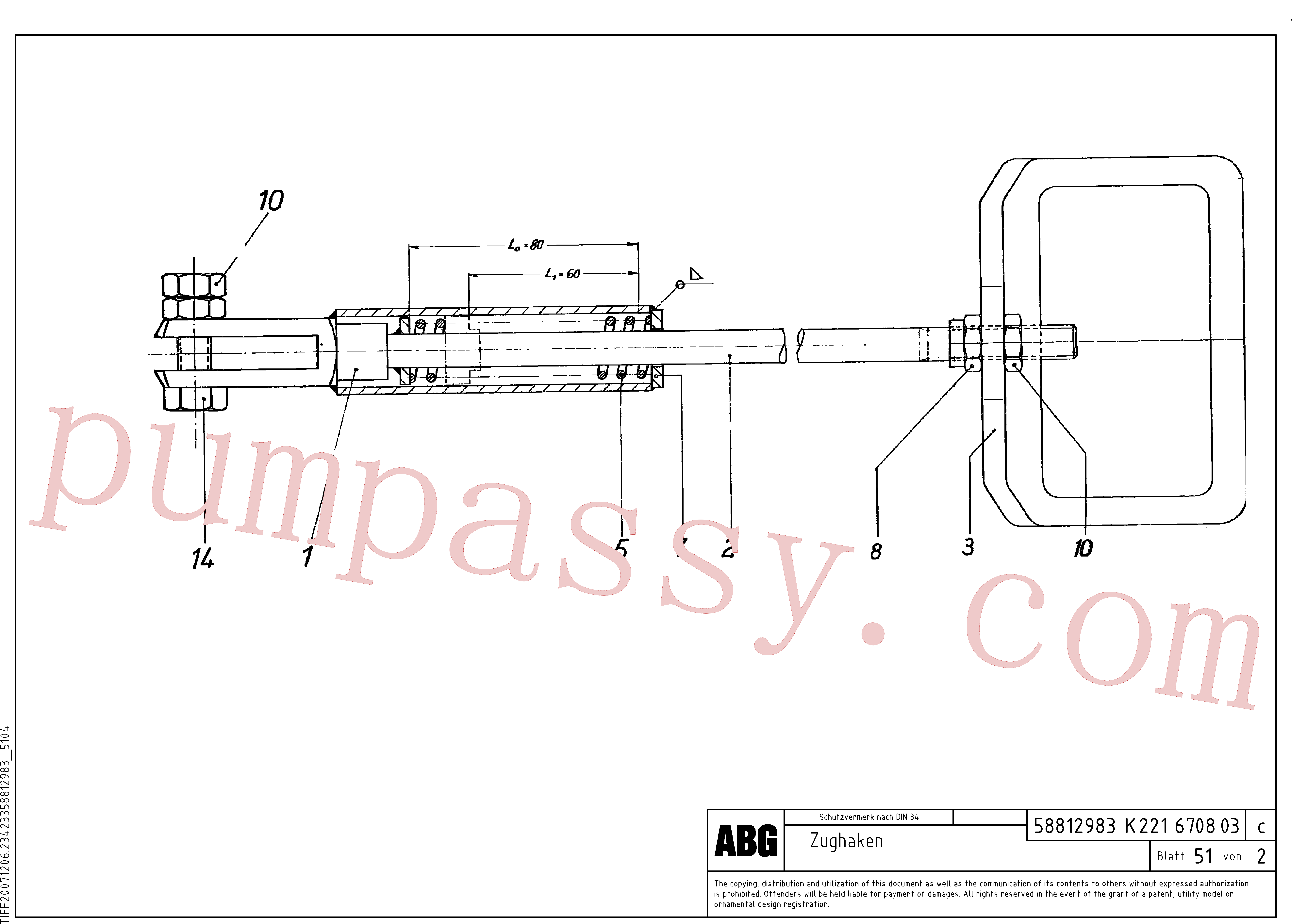 RM96724182 for Volvo Anchor, Tow hook(1046944 assembly)