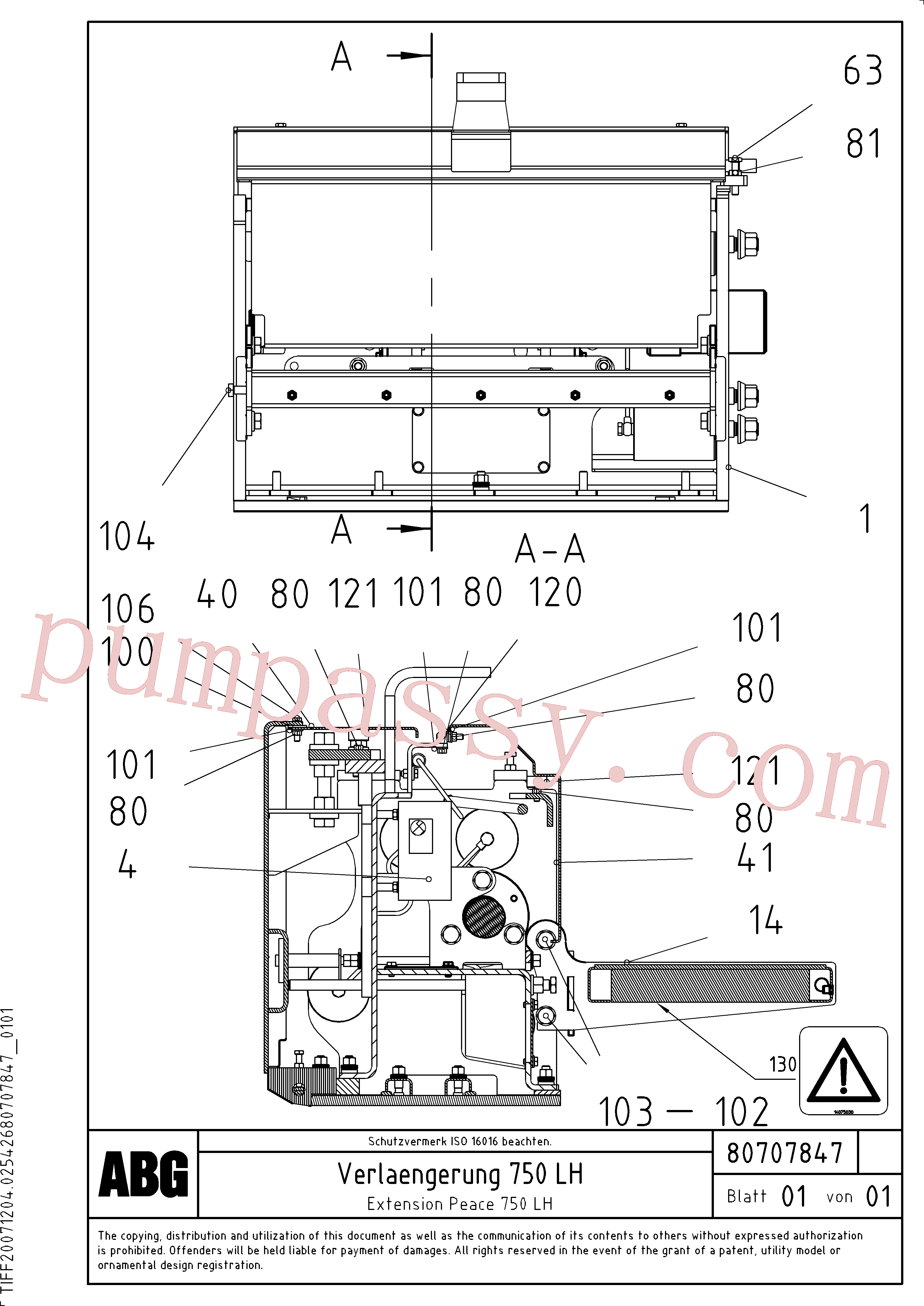RM87969887 for Volvo Extension(1047310 assembly)