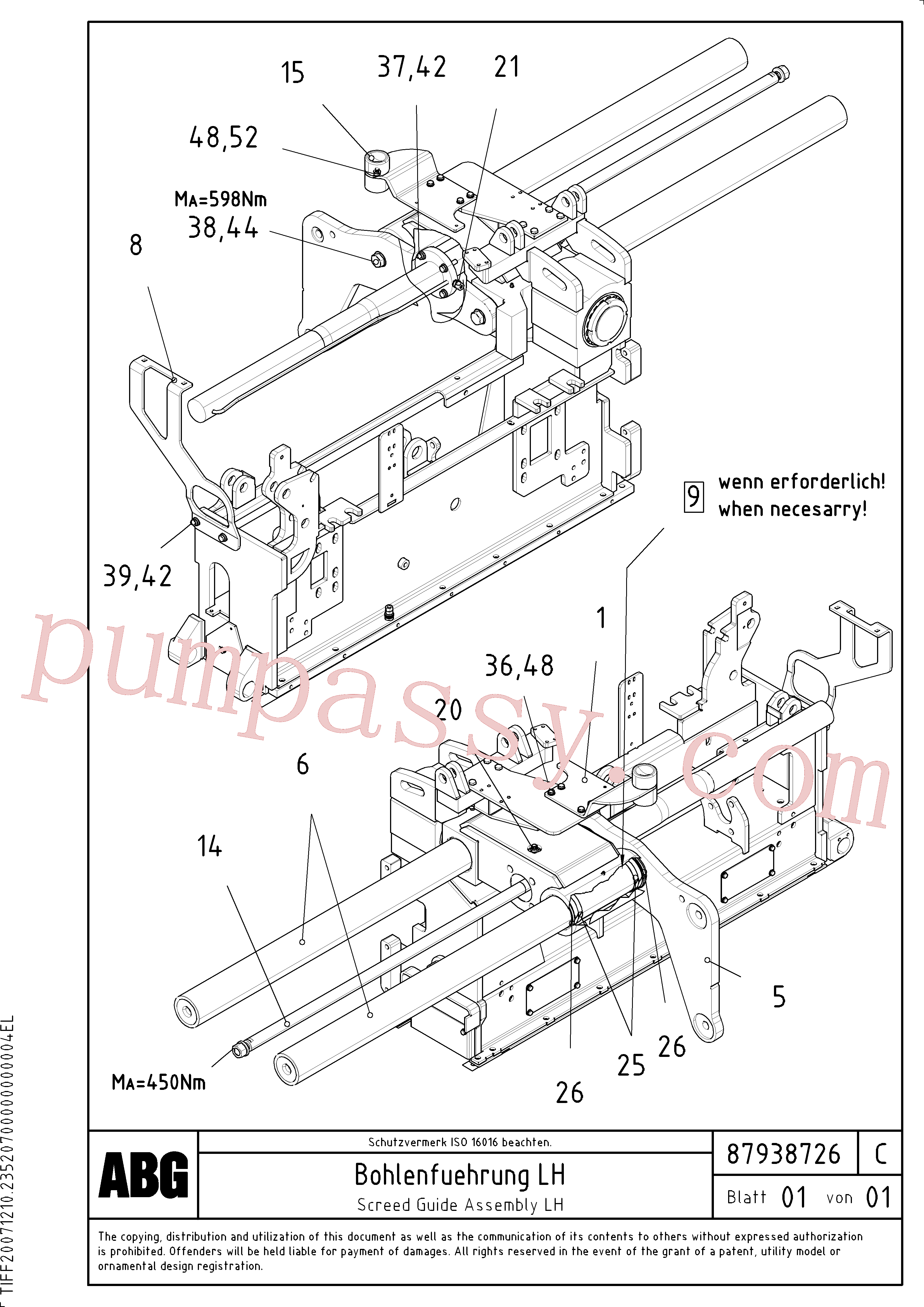 RM14082317 for Volvo Screed guide for basic screed(1047911 assembly)
