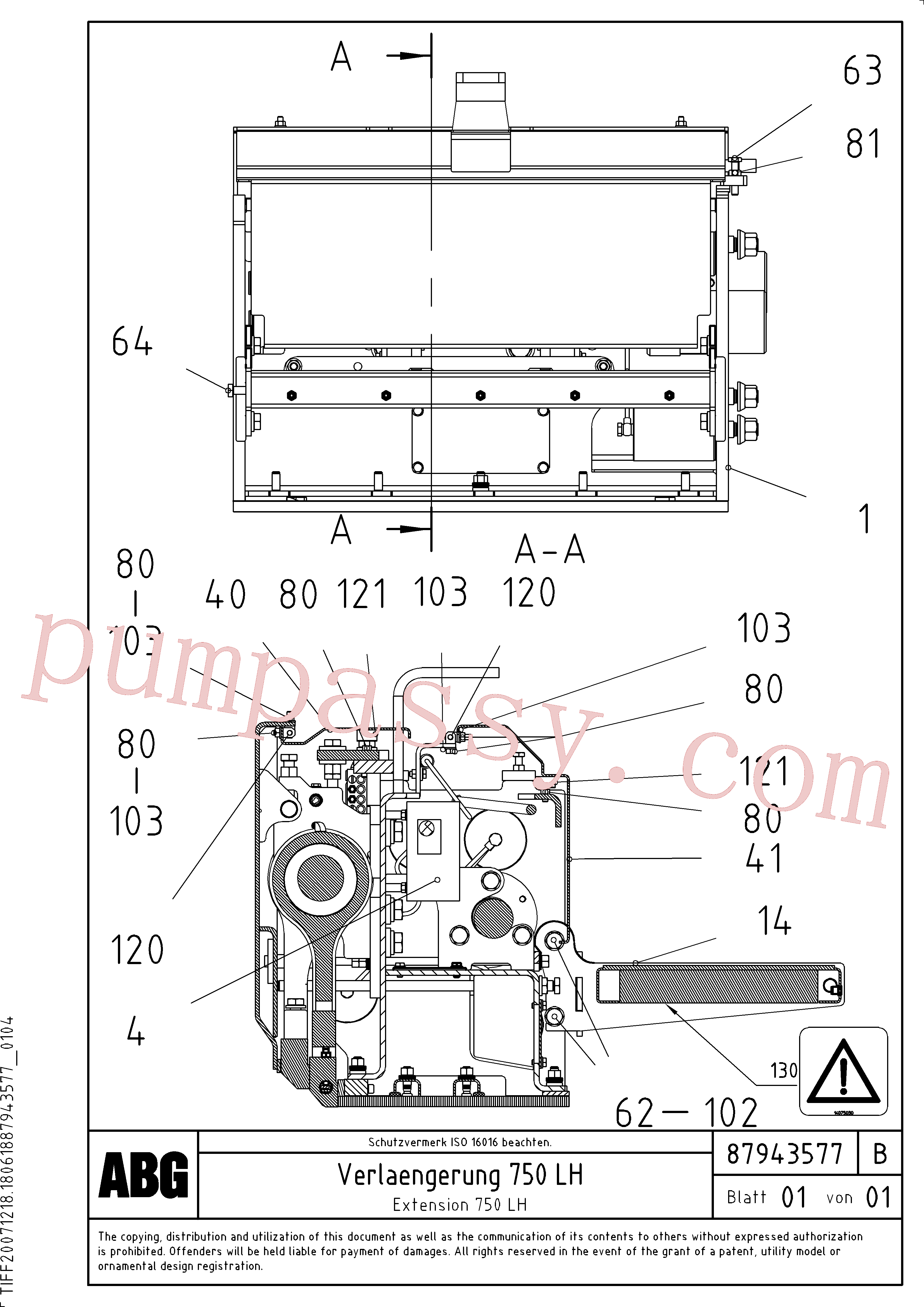 RM87969887 for Volvo Extension(1047987 assembly)