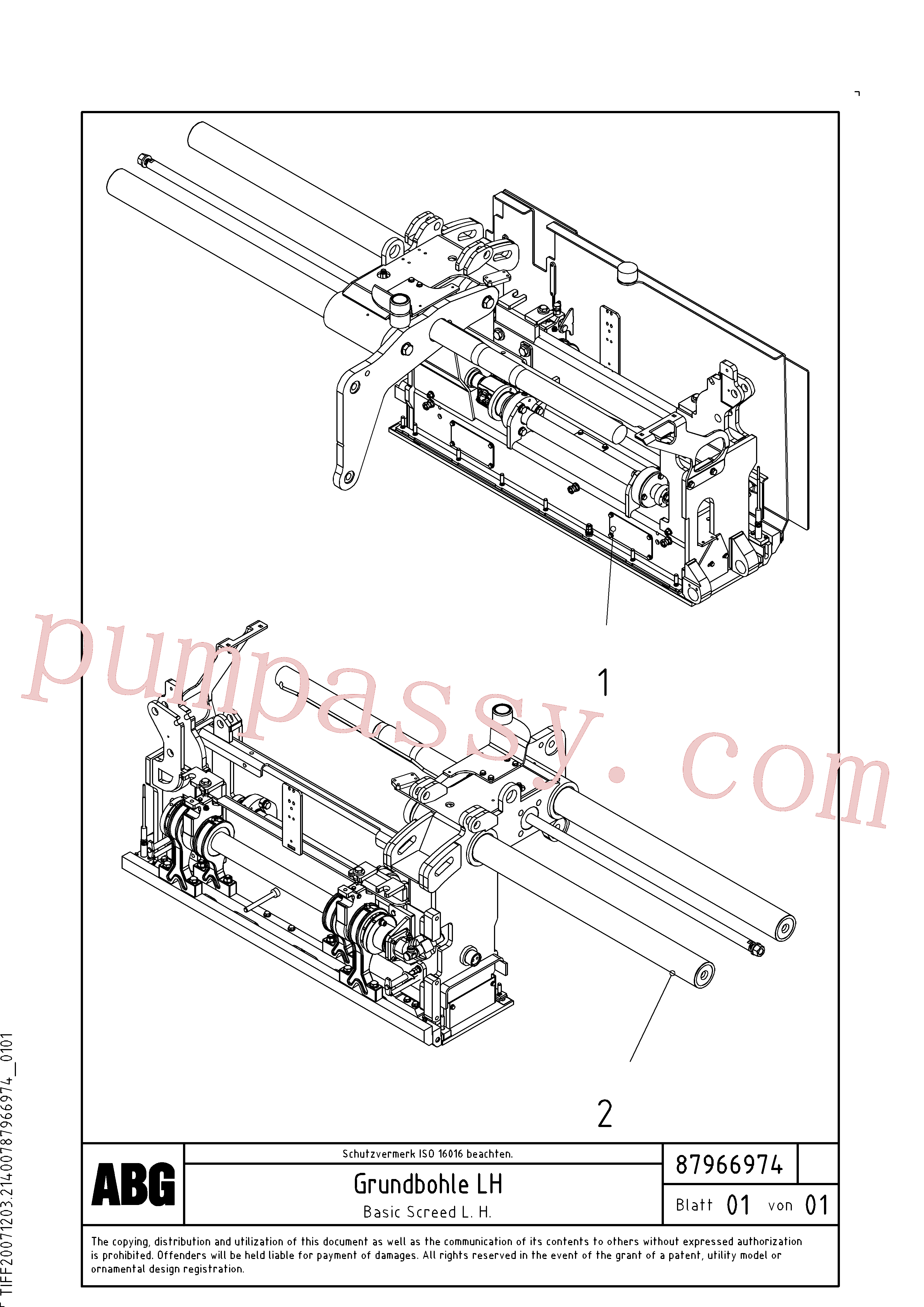 RM54543046 for Volvo Basic screed(1048067 assembly)
