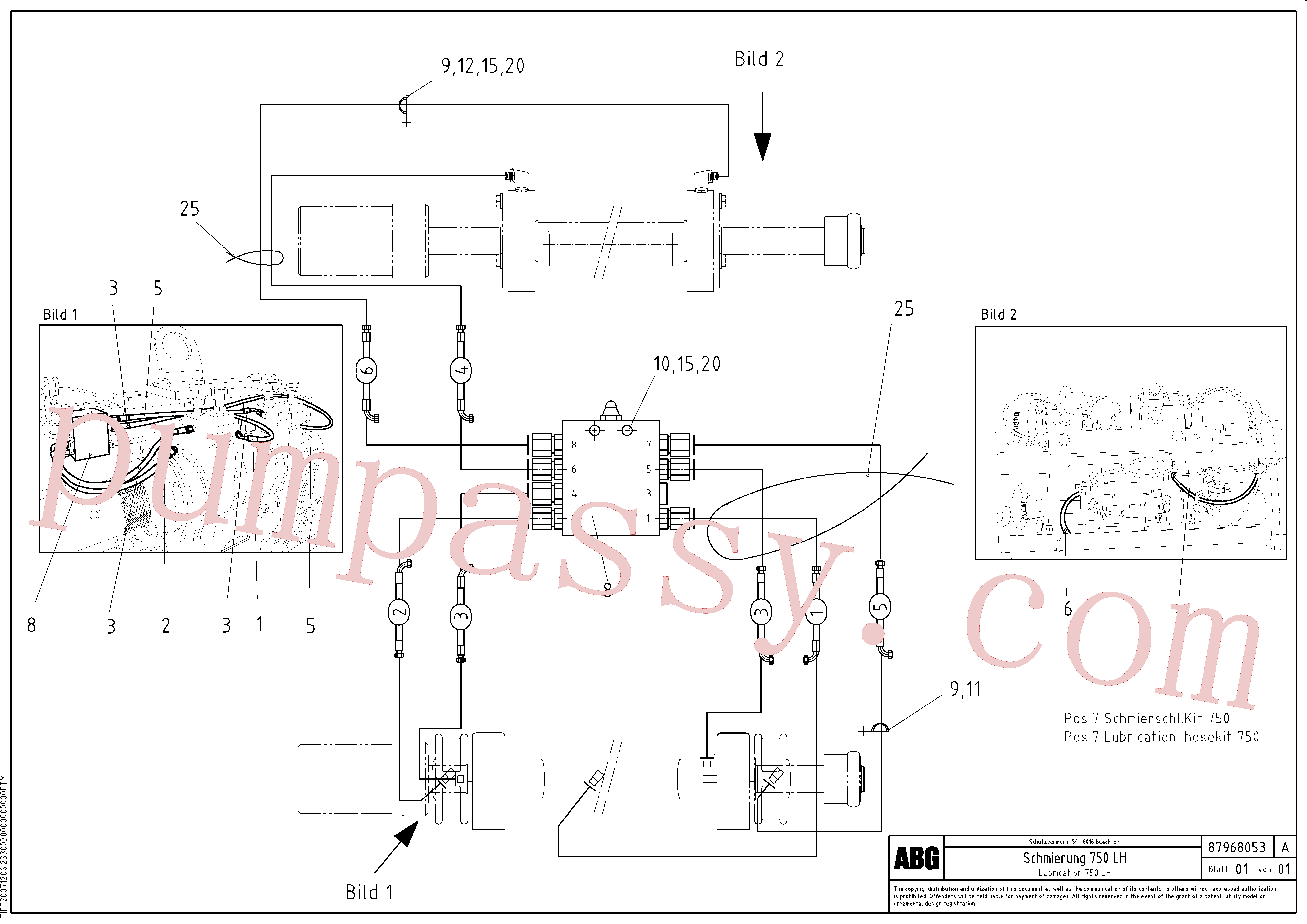 RM87968194 for Volvo Lubrication hose kit for extension, Lubrication for extension(1048080 assembly)