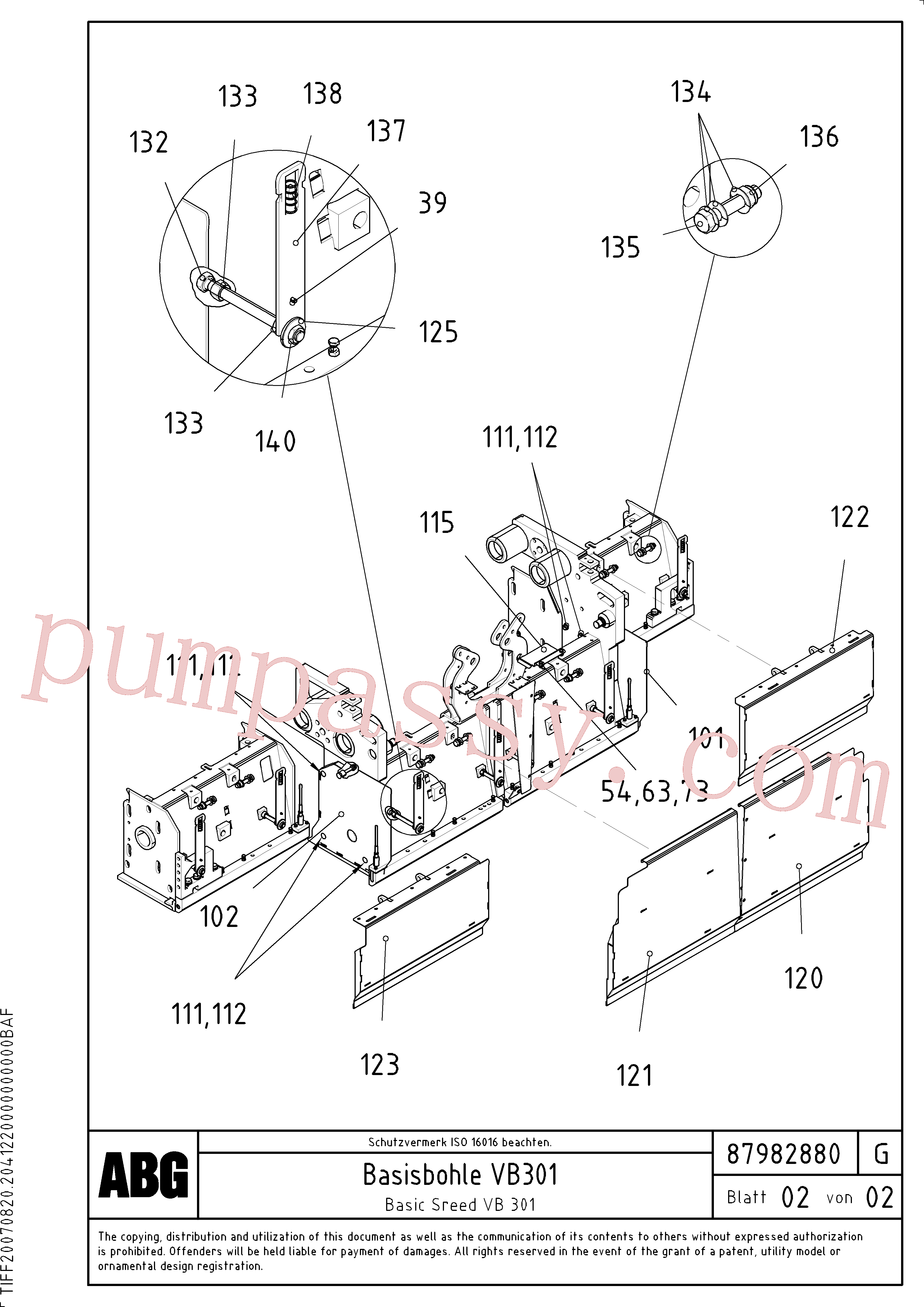 RM14272462 for Volvo Basic screed(1048271 assembly)