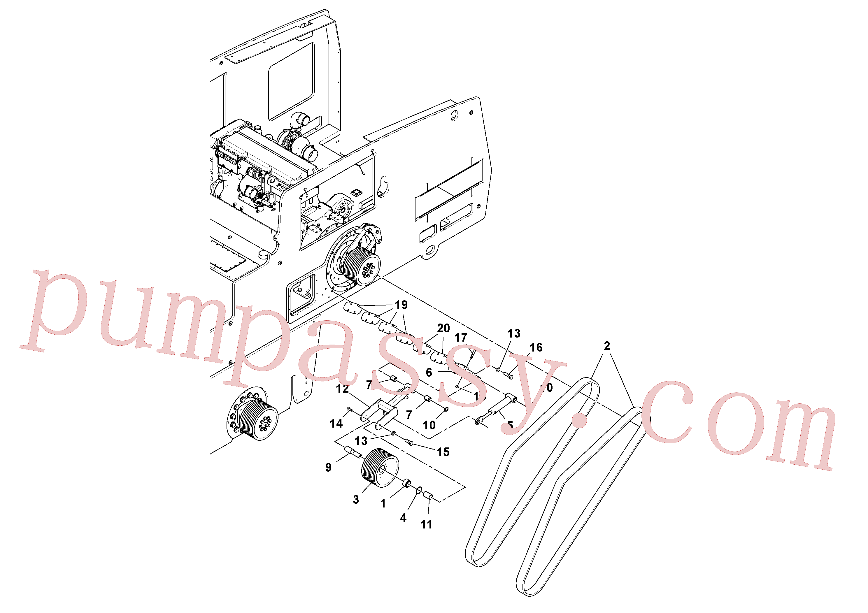 RM96705645 for Volvo Drive Belt Assembly(1048388 assembly)