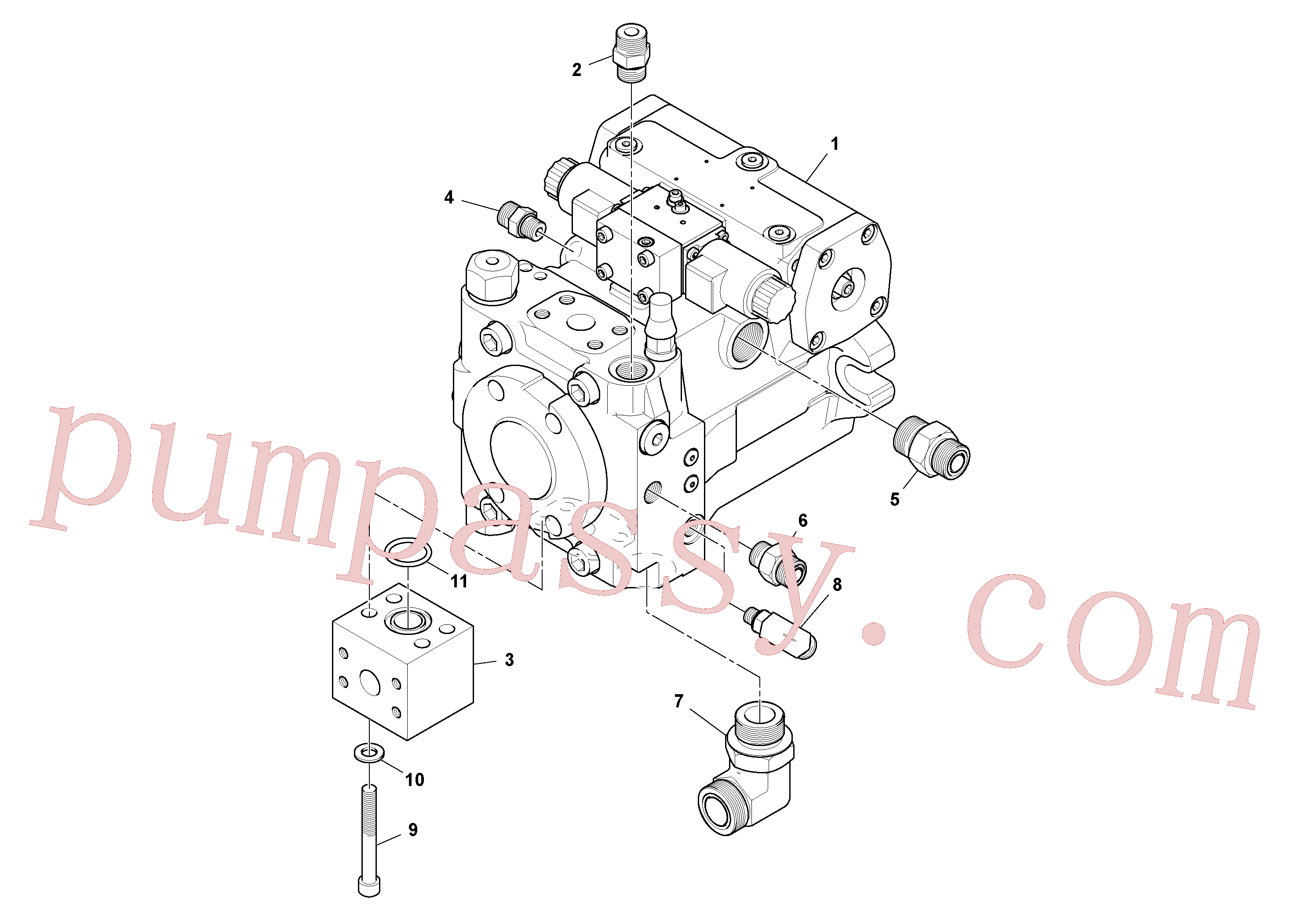 VOE935032 for Volvo Propulsion Pump Assembly(1048406 assembly)