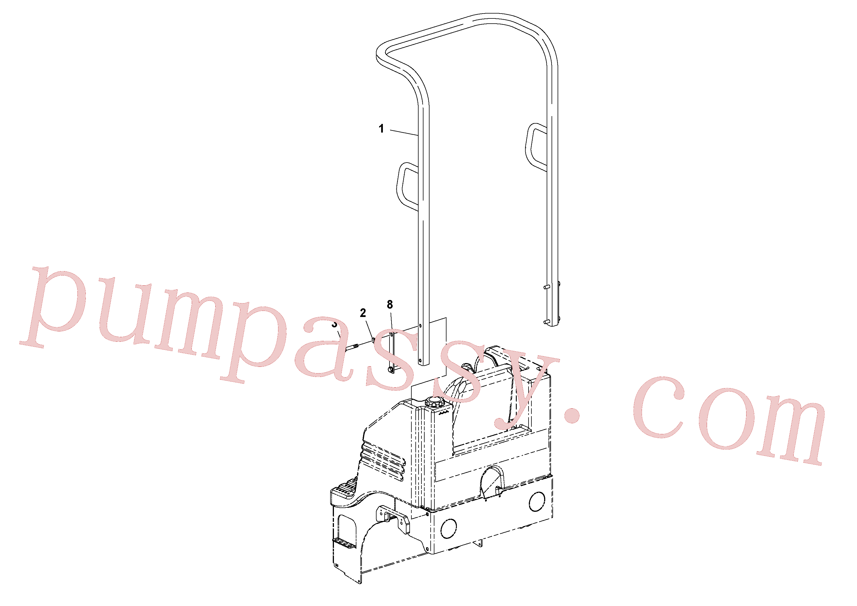 RM96705645 for Volvo ROPS Installation(1049191 assembly)