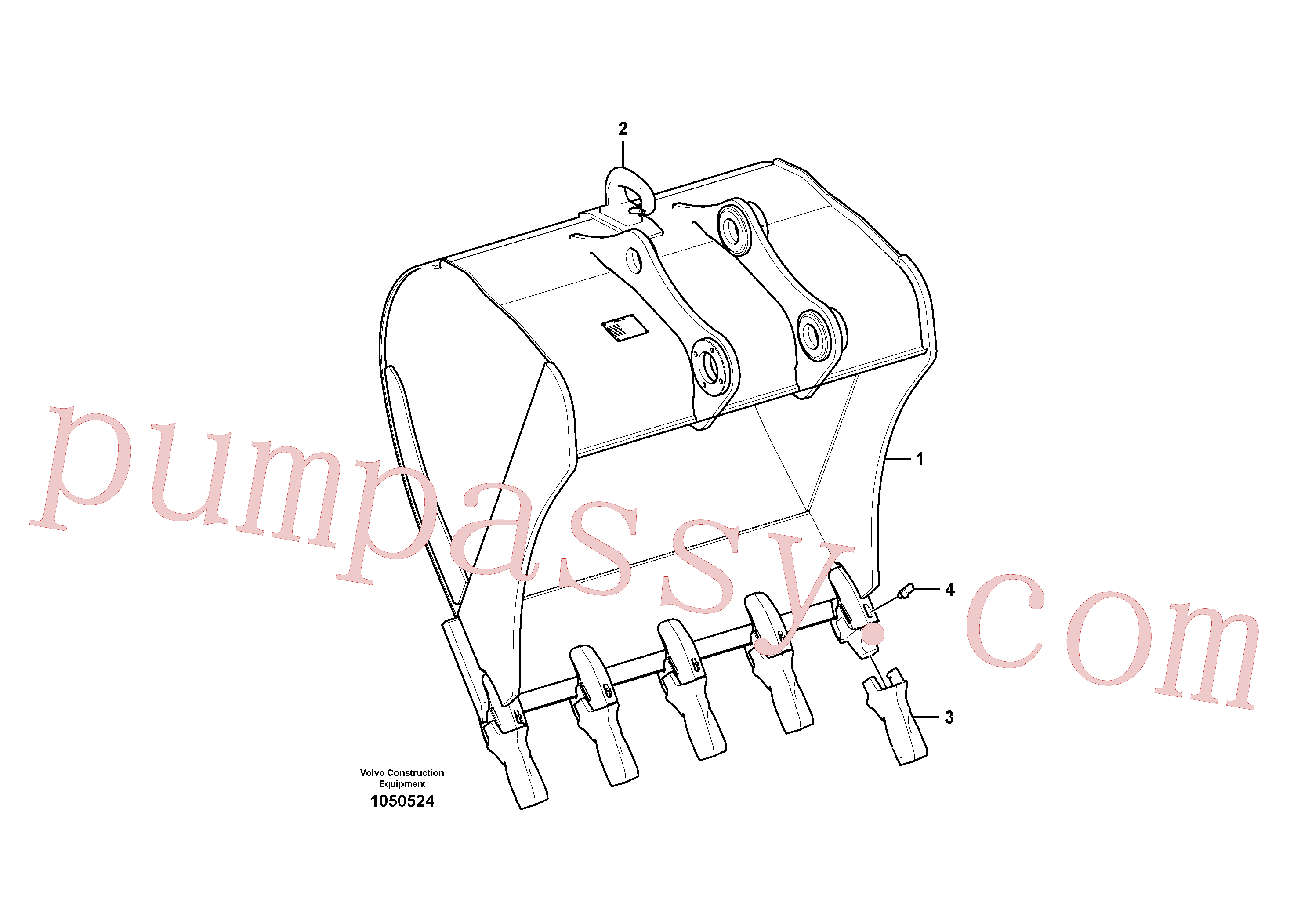 VOE14629936 for Volvo Bucket(1050524 assembly)