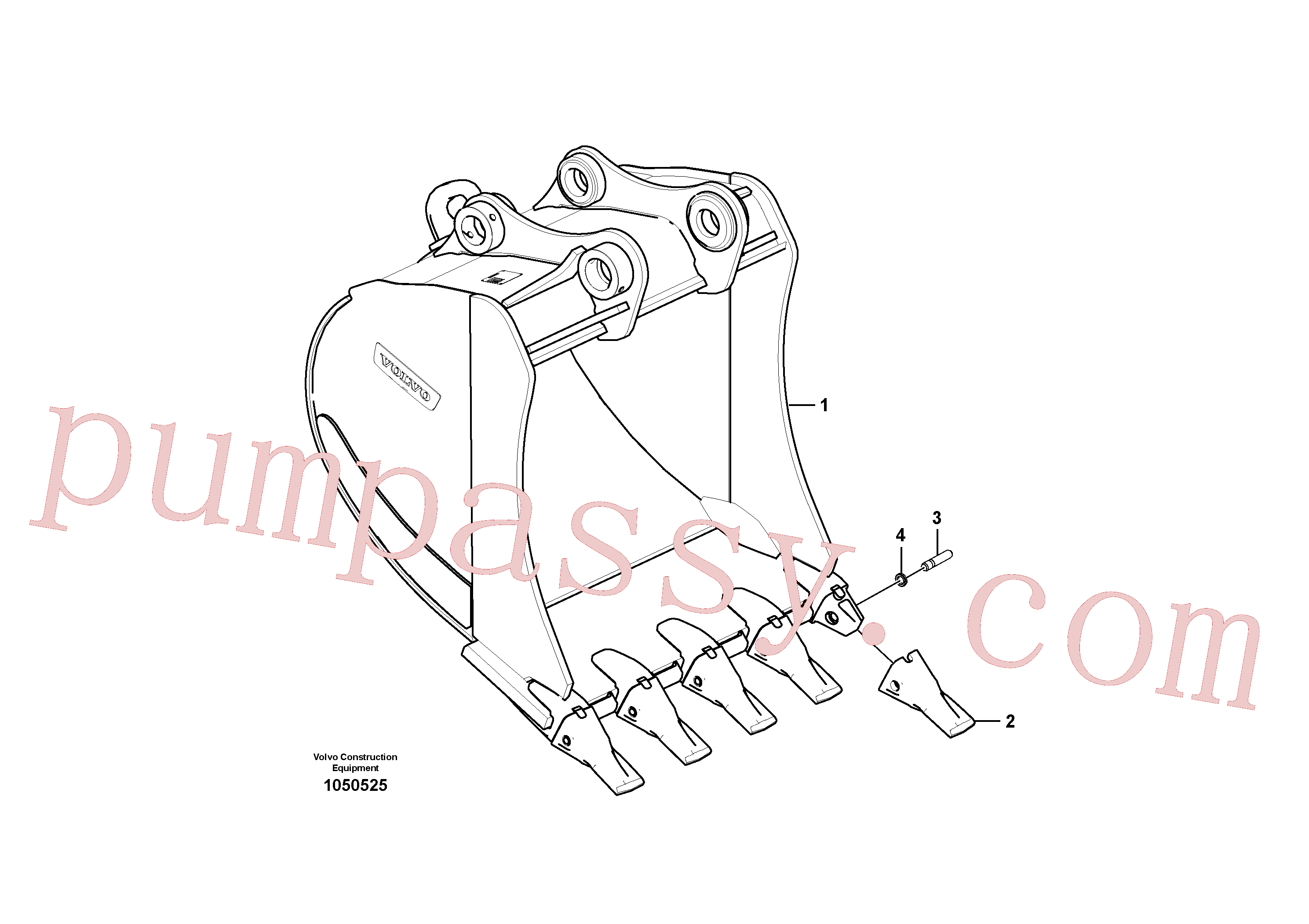 VOE14687242 for Volvo Bucket(1050525 assembly)