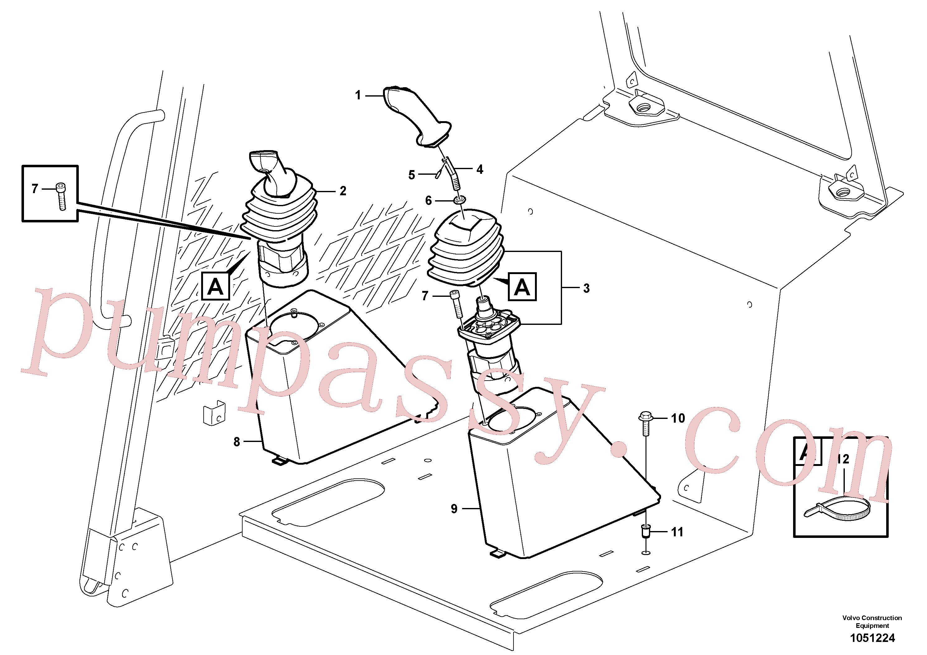 VOE13946934 for Volvo Optional hand controls(1051224 assembly)