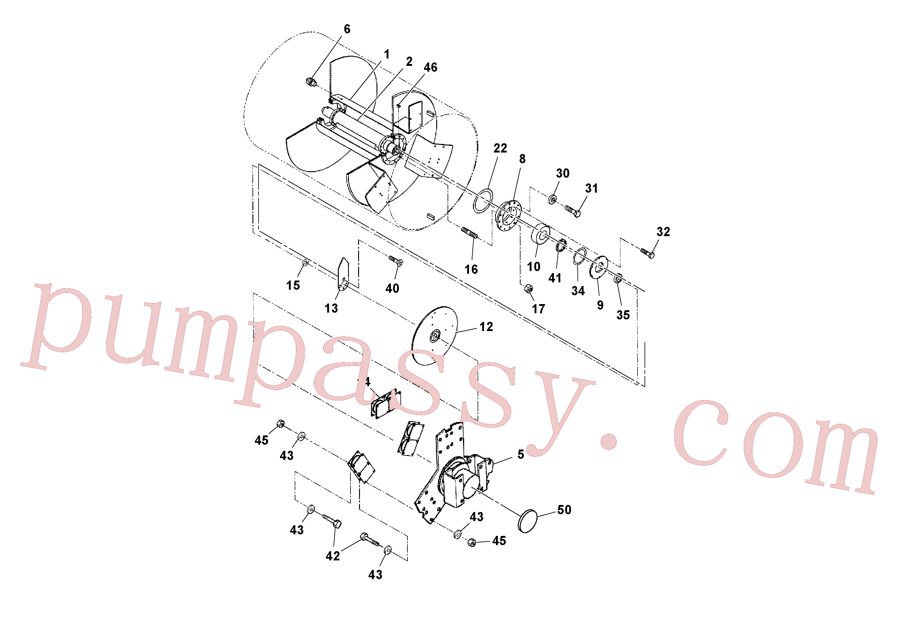 RM20922100 for Volvo Front/Rear Drum Assembly(1052546 assembly)