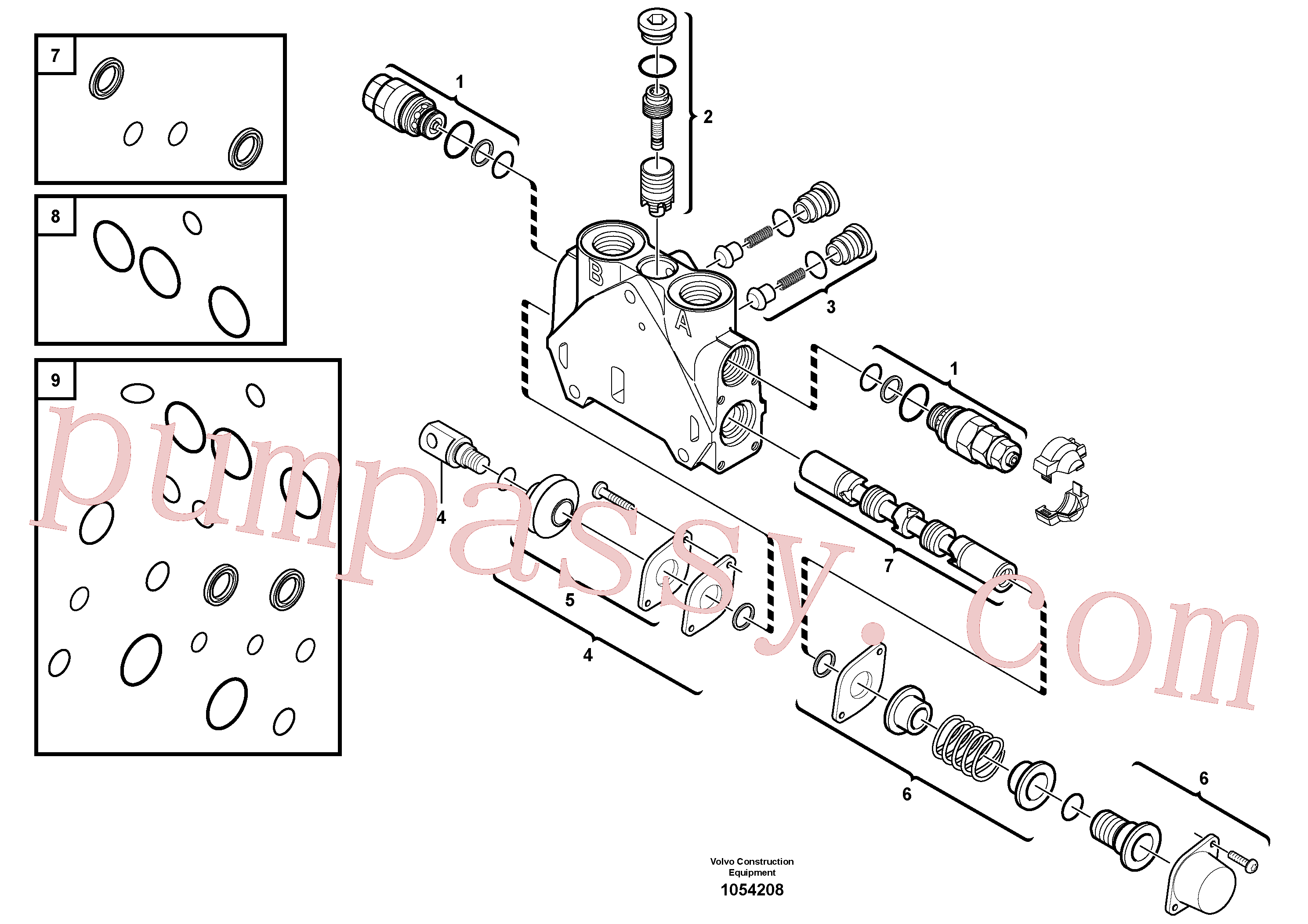 VOE11712623 for Volvo Valve section(1054208 assembly)