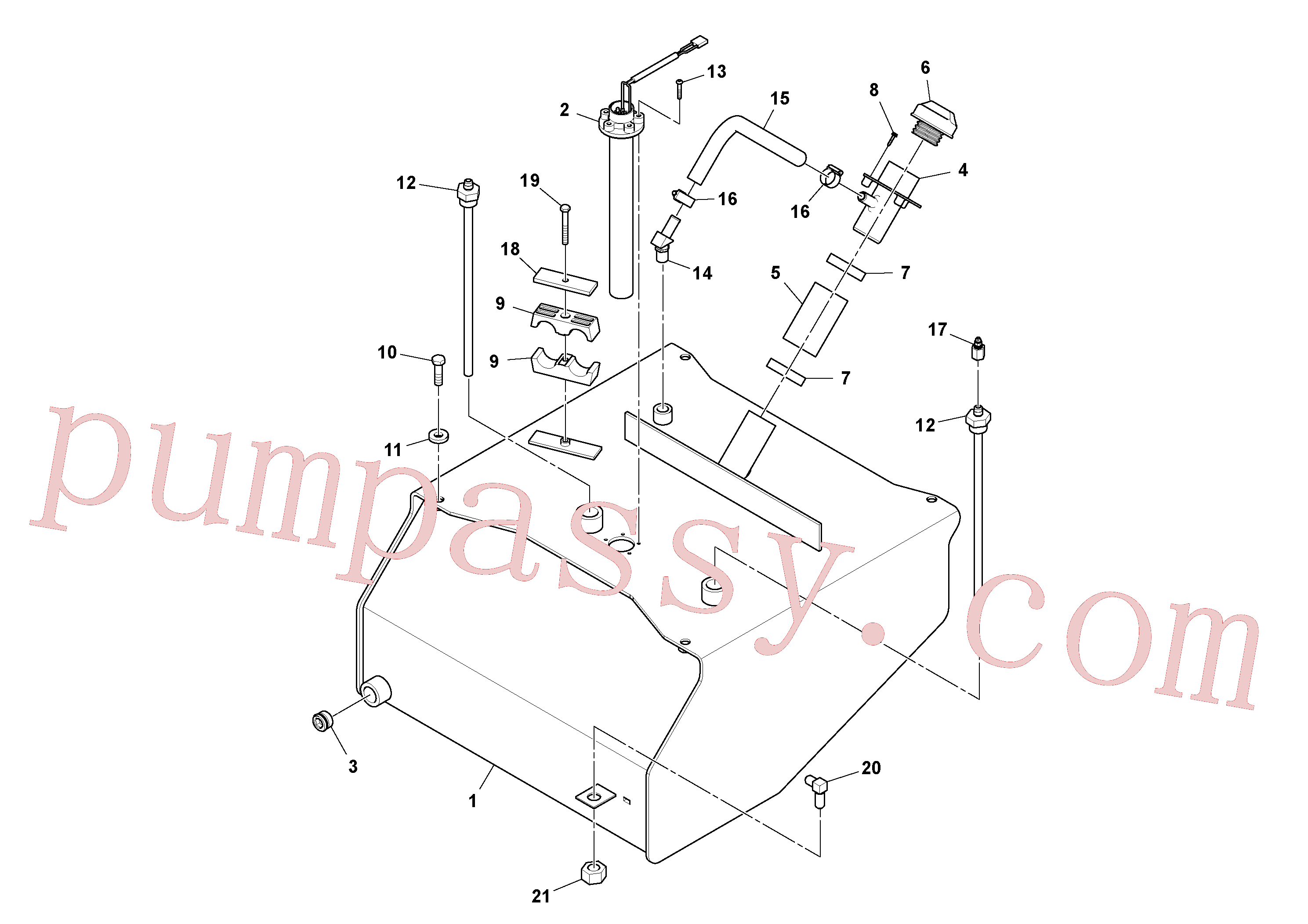 RM95920567 for Volvo Fuel Tank Assembly(1054349 assembly)