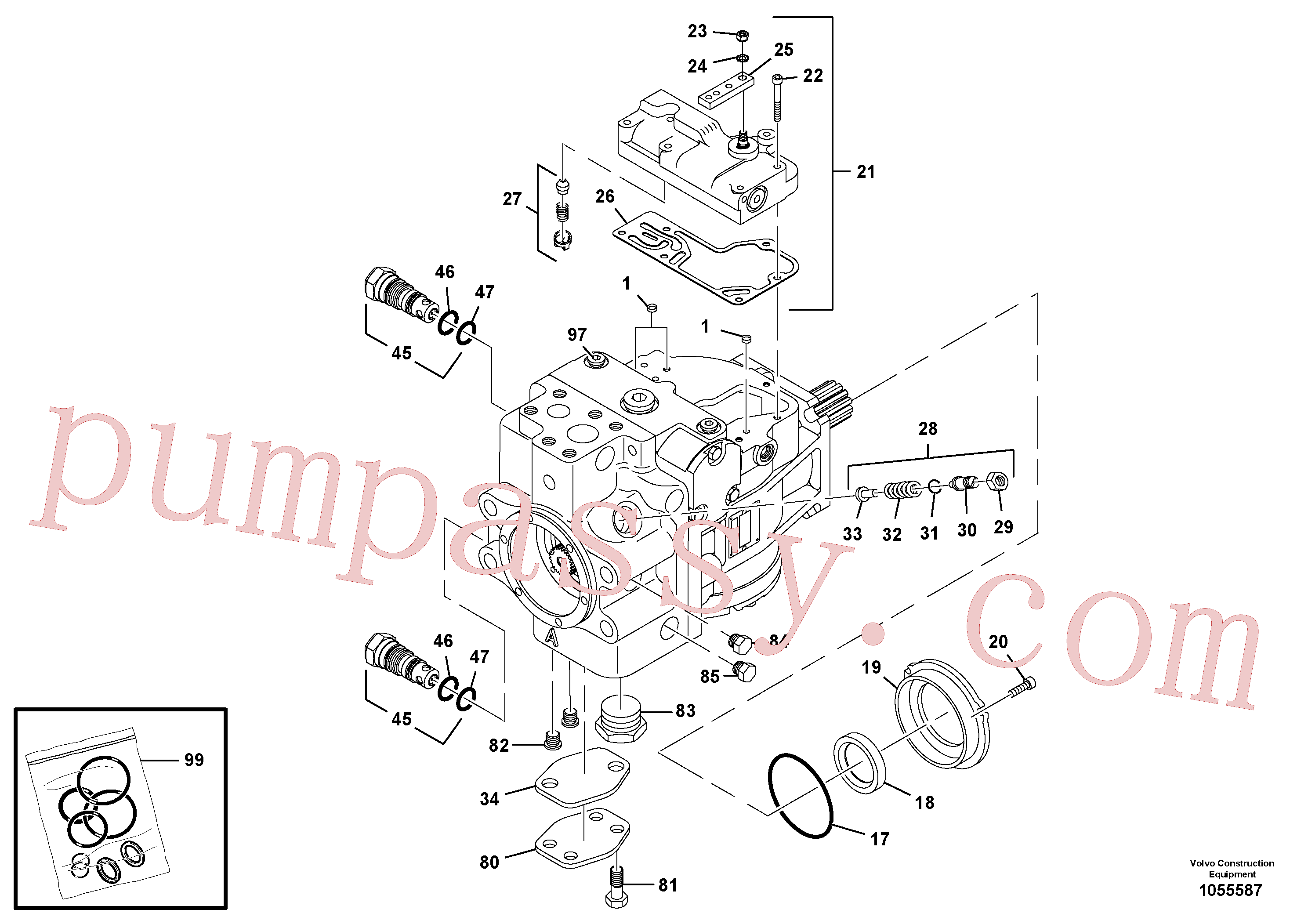 RM59360735 for Volvo Propulsion Pump(1055587 assembly)