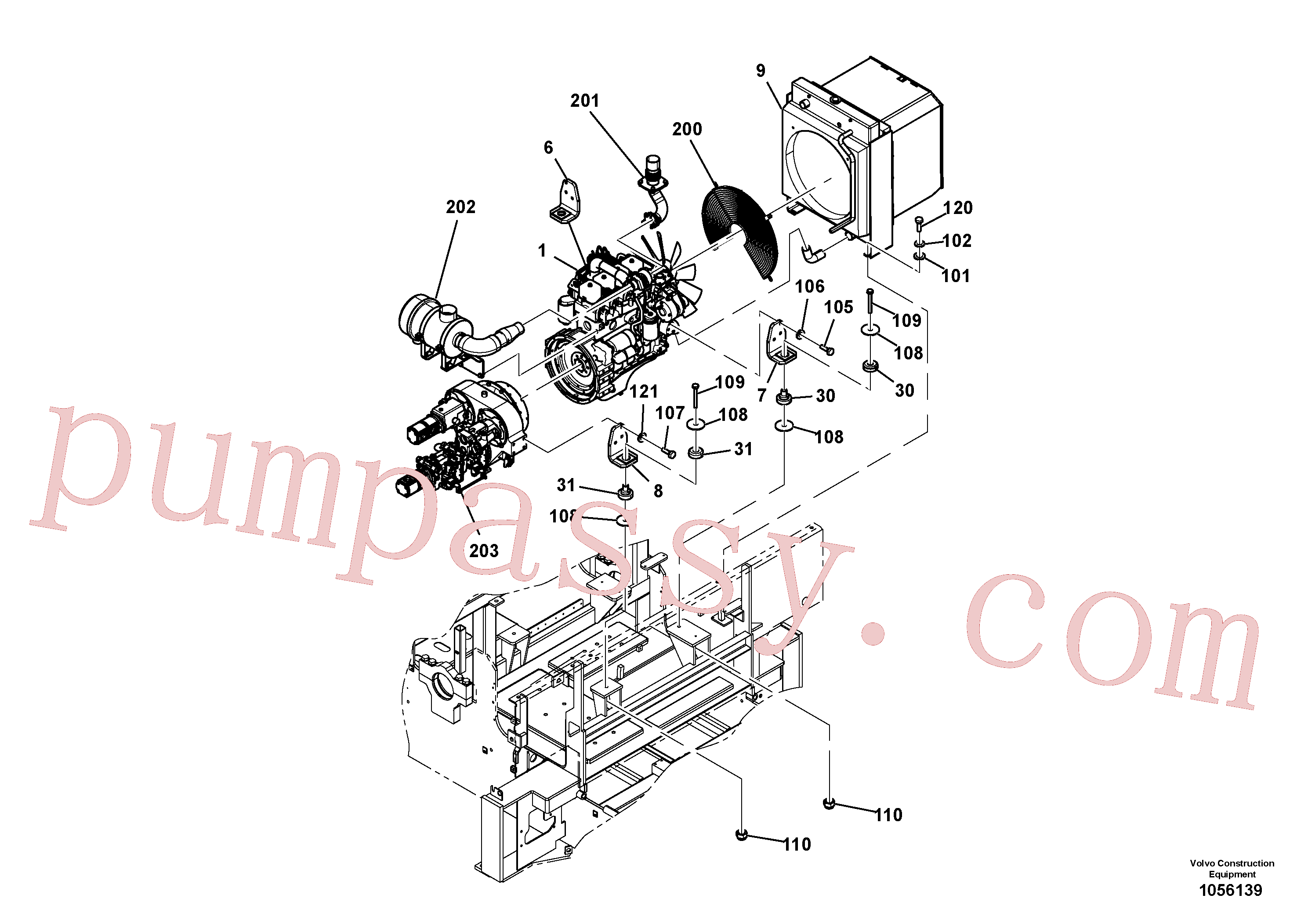 RM96718887 for Volvo Engine Installation(1056139 assembly)