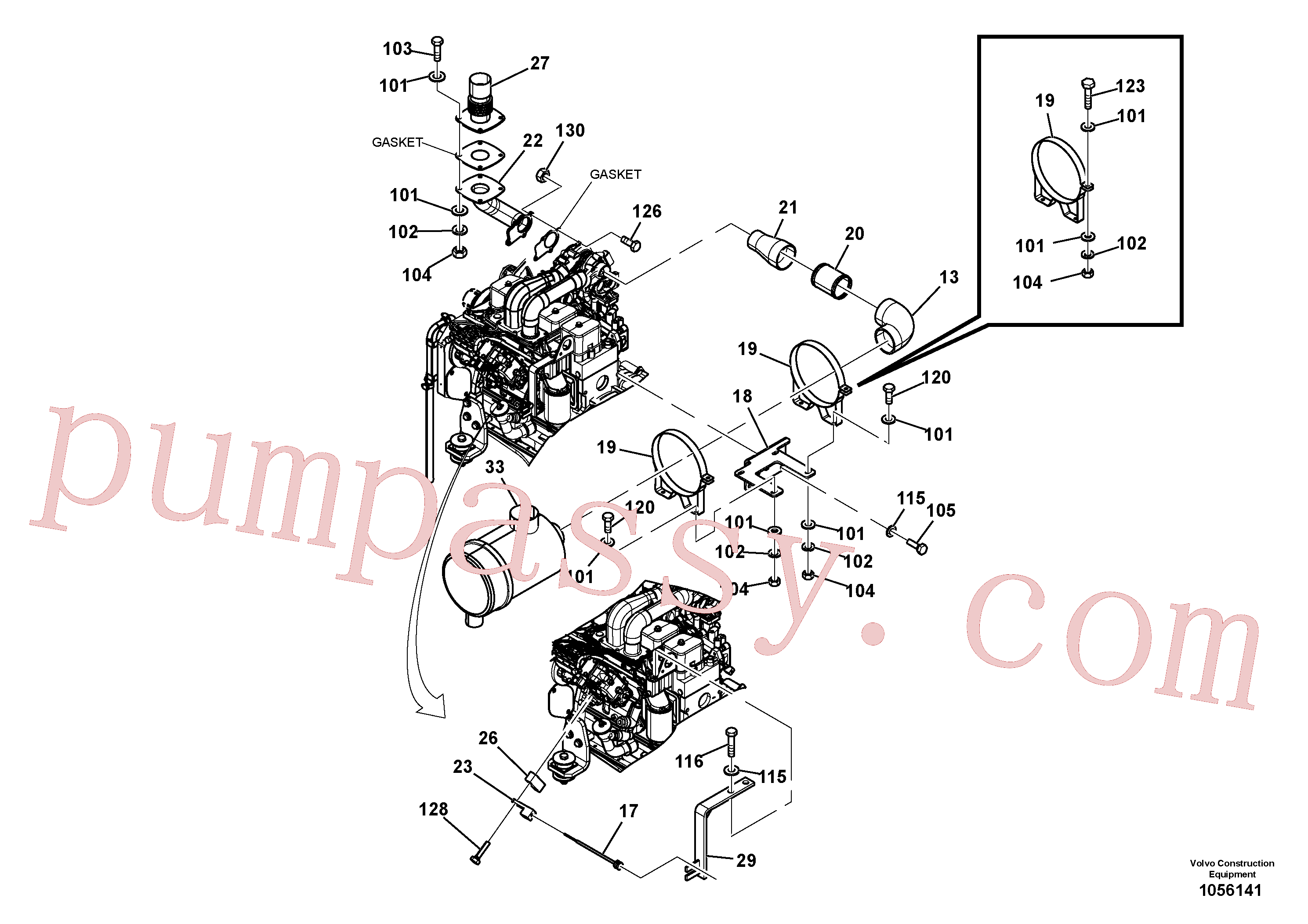 RM96718887 for Volvo Engine Installation(1056141 assembly)